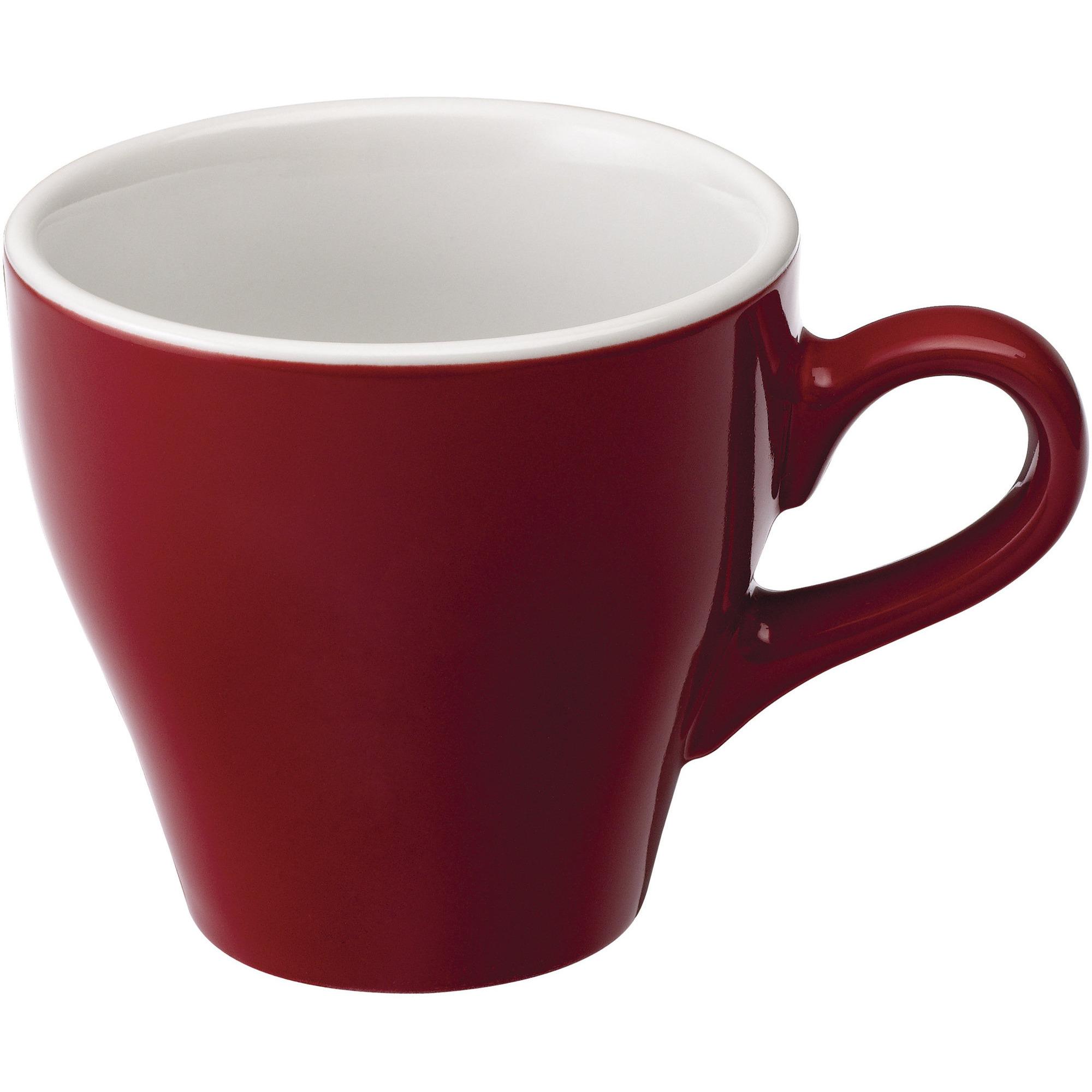 Loveramics Tulip Café Lattekopp 280ml. 6 st. Red