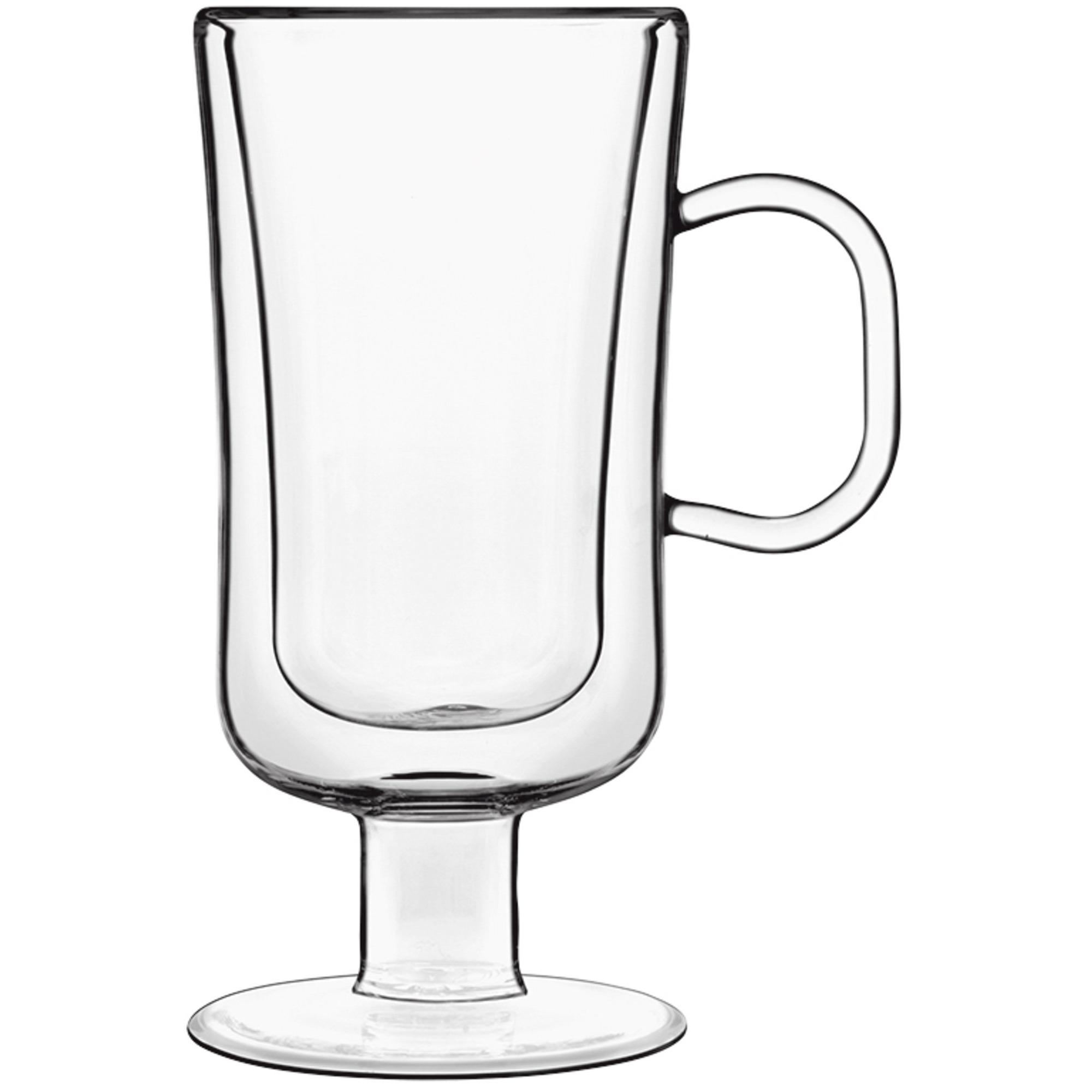 Luigi Bormioli 2 st. Thermic kaffeglas med handtag