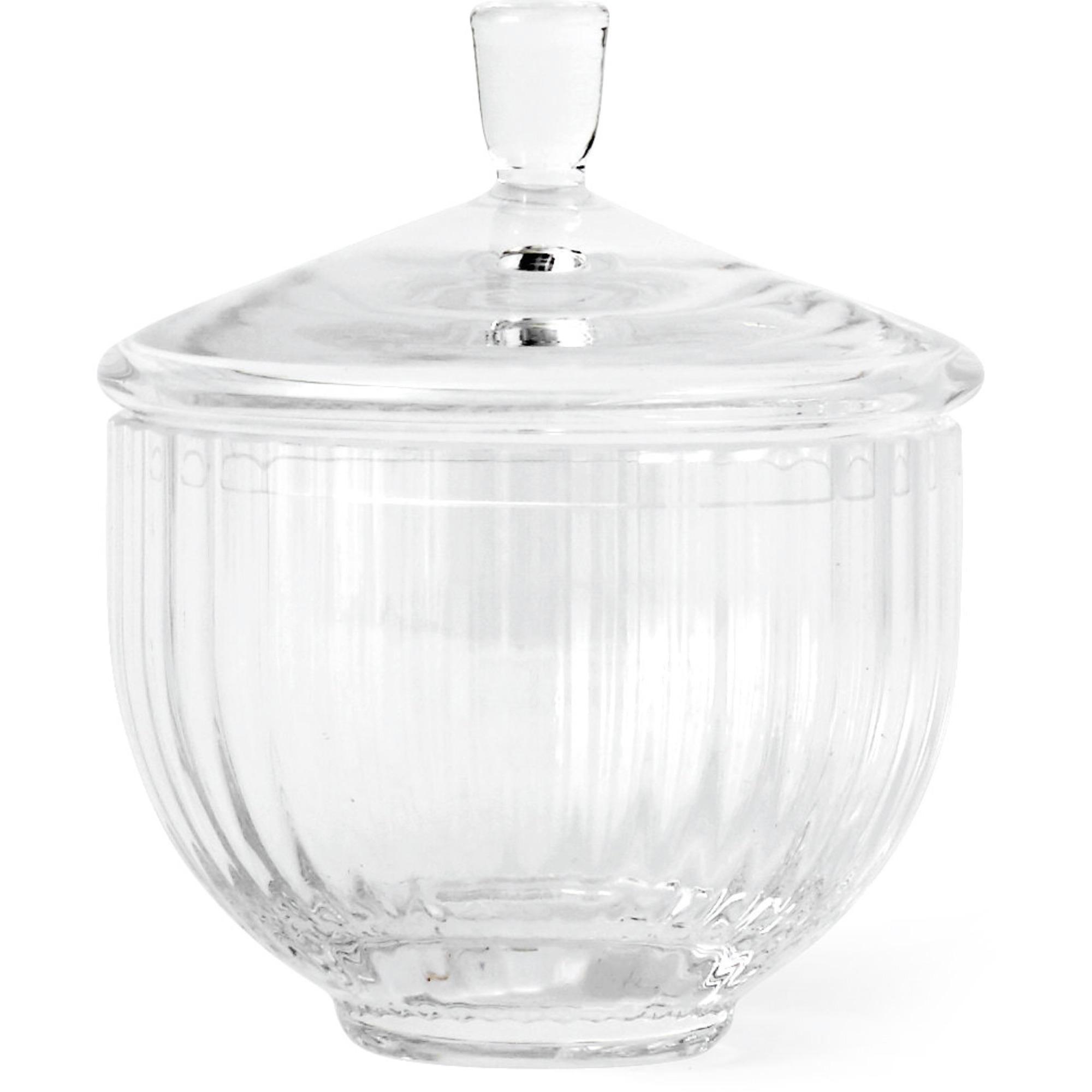 Lyngby Porcelæn Glas bonbonniere Ø 10 cm. klar