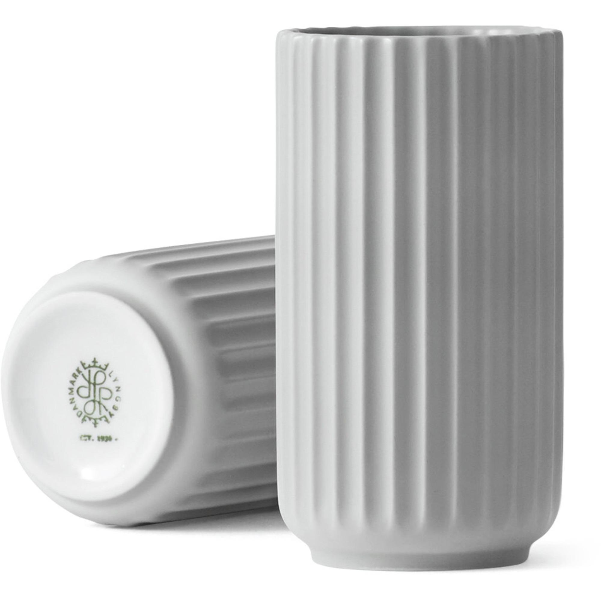 Lyngby Porcelæn Lyngbyvasen 12 cm. porslin – ljusgrå