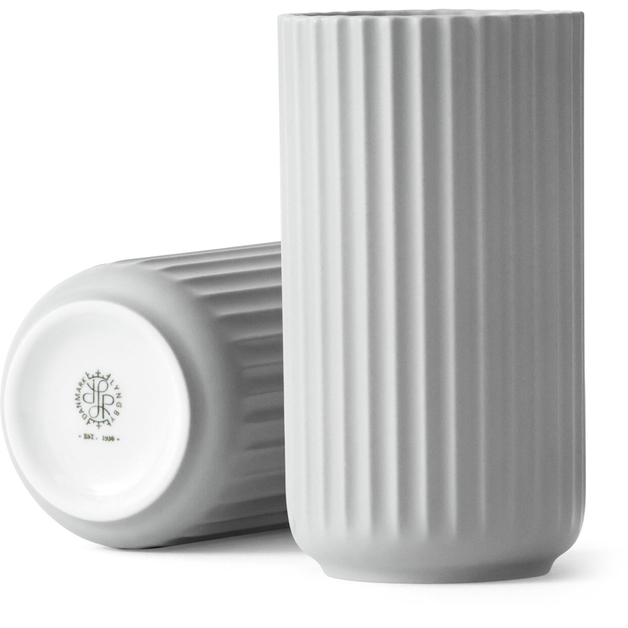 Lyngby Porcelæn Lyngbyvasen 15 cm. porslin – ljusgrå
