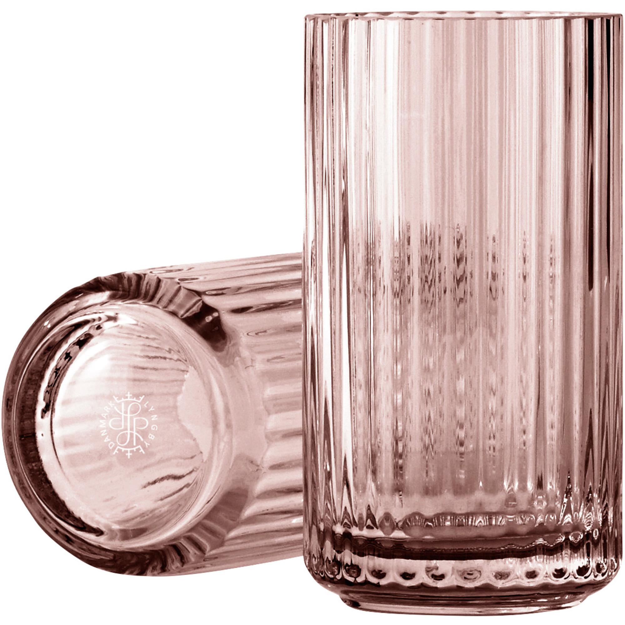 Lyngby Porcelæn Lyngbyvasen 15 cm. glas – burgundy