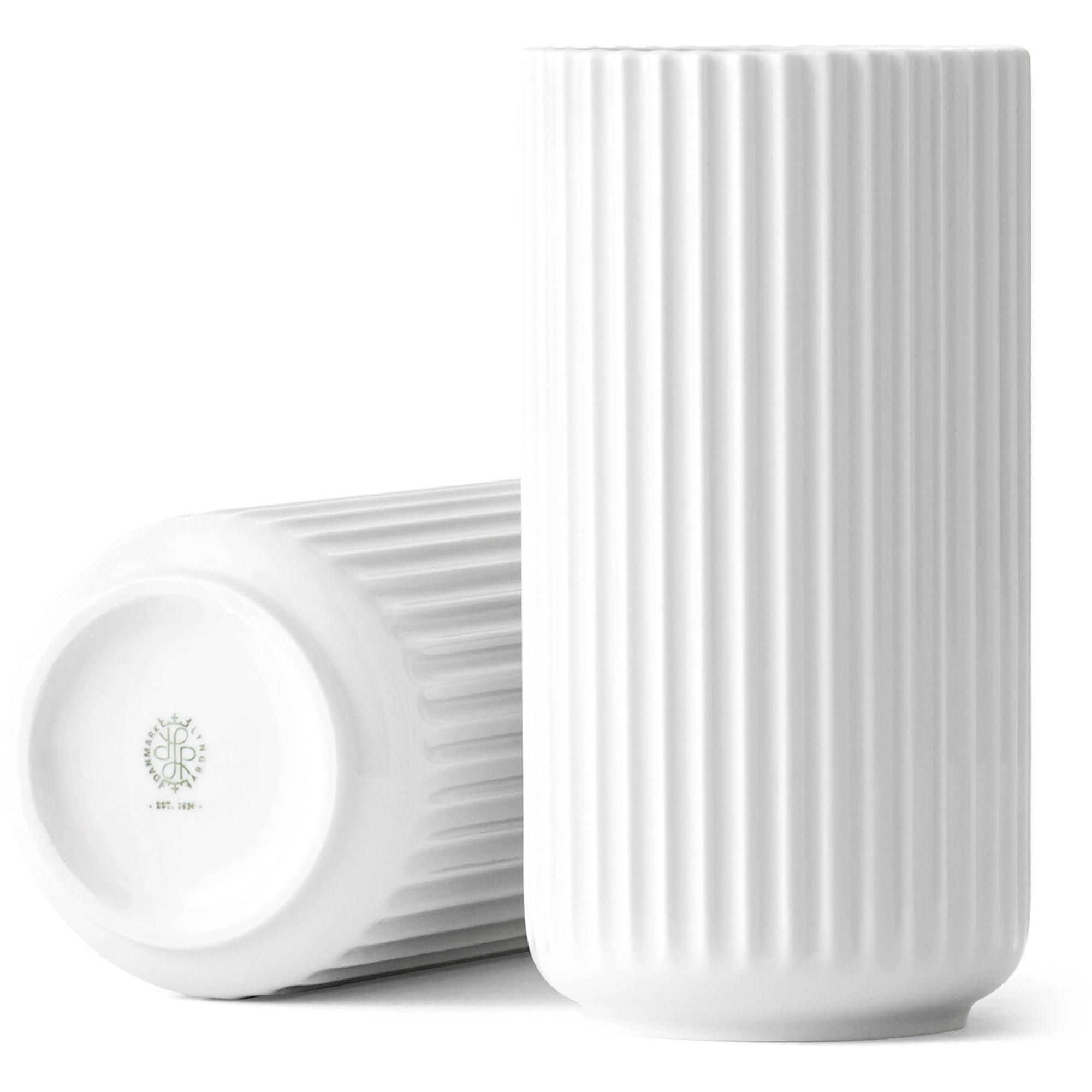Lyngby Porcelæn Vas 20 cm Vit