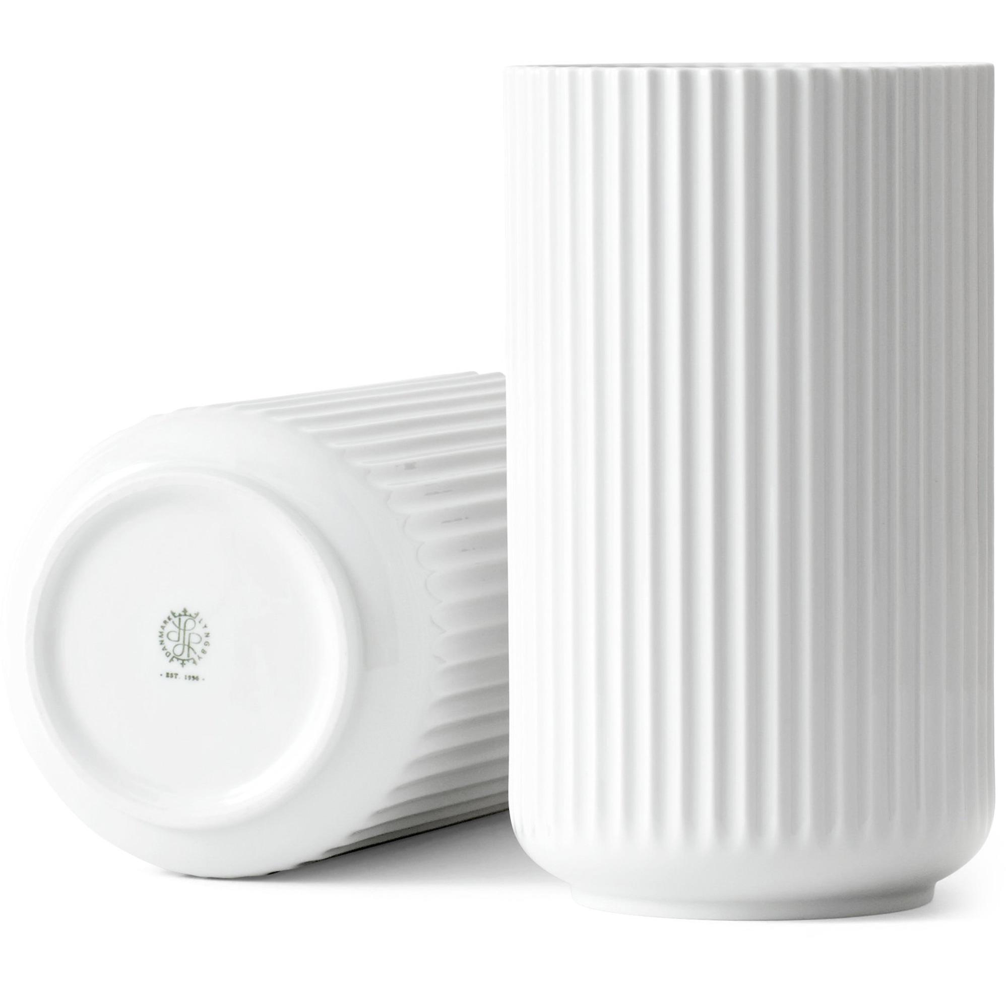Lyngby Porcelæn Vas 25 cm Vit