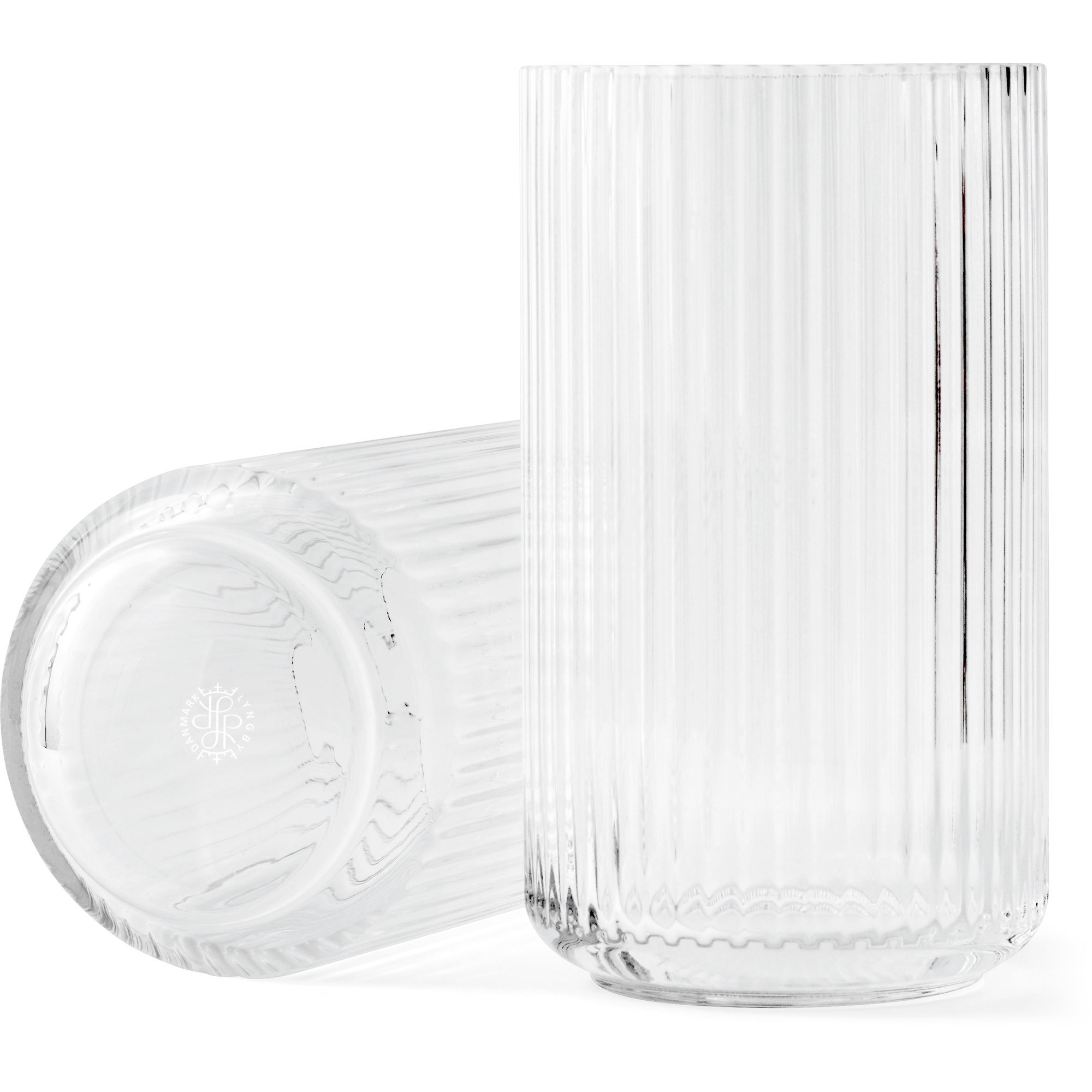 Lyngby Porcelæn Lyngbyvasen 25 cm. glas