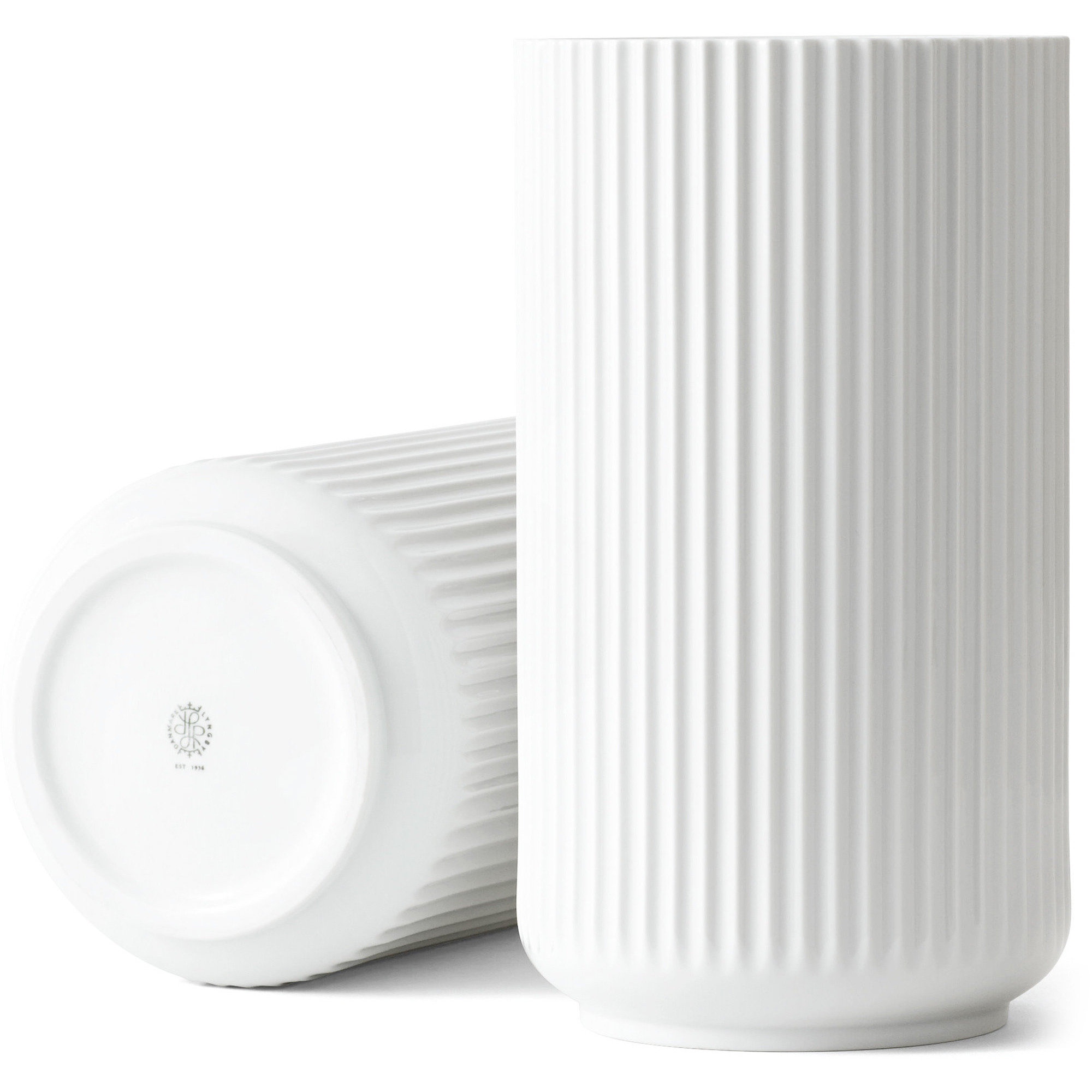 Lyngby Porcelæn Lyngbyvasen 31 cm. porslin – vit