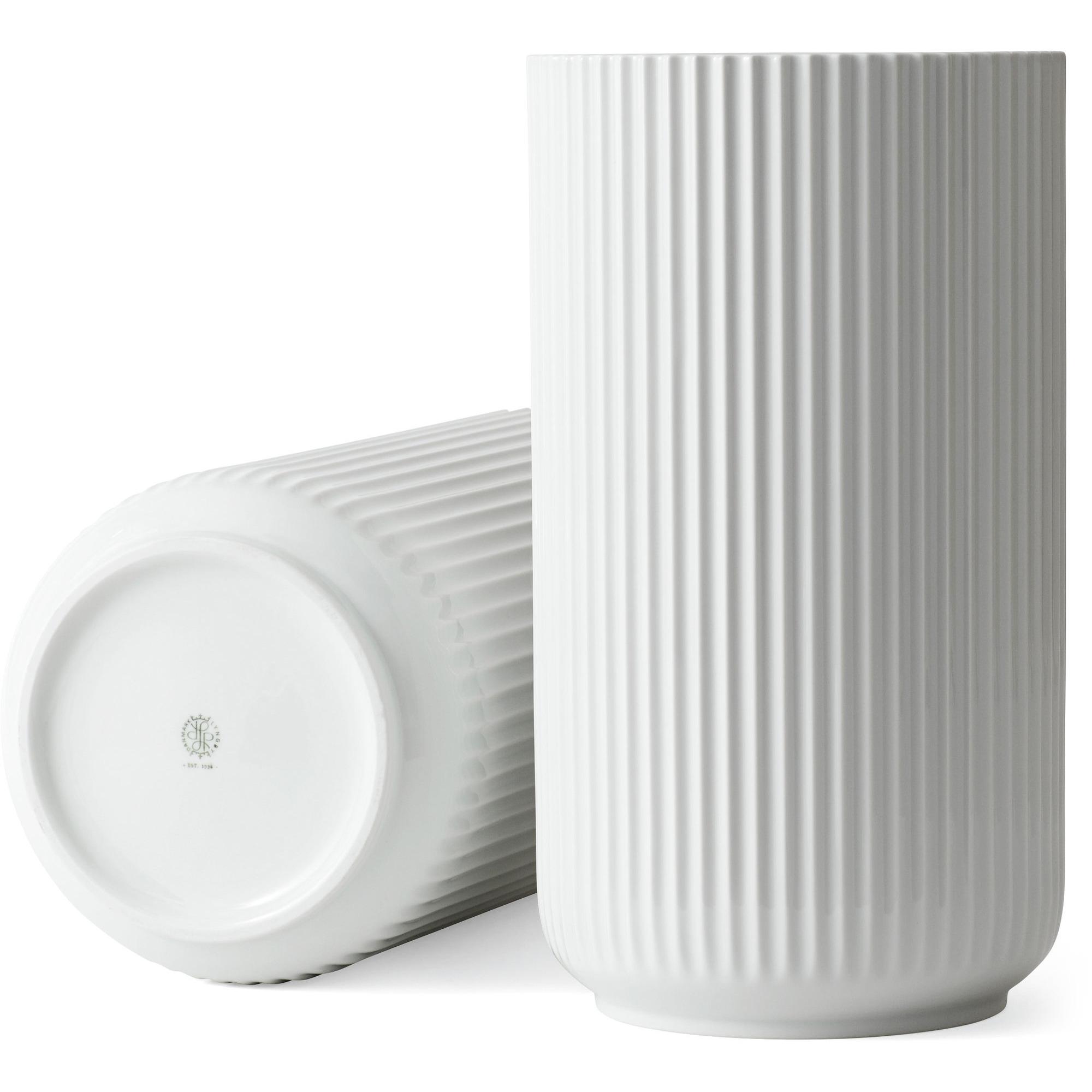 Lyngby Porcelæn Lyngbyvasen 38 cm. porslin – vit