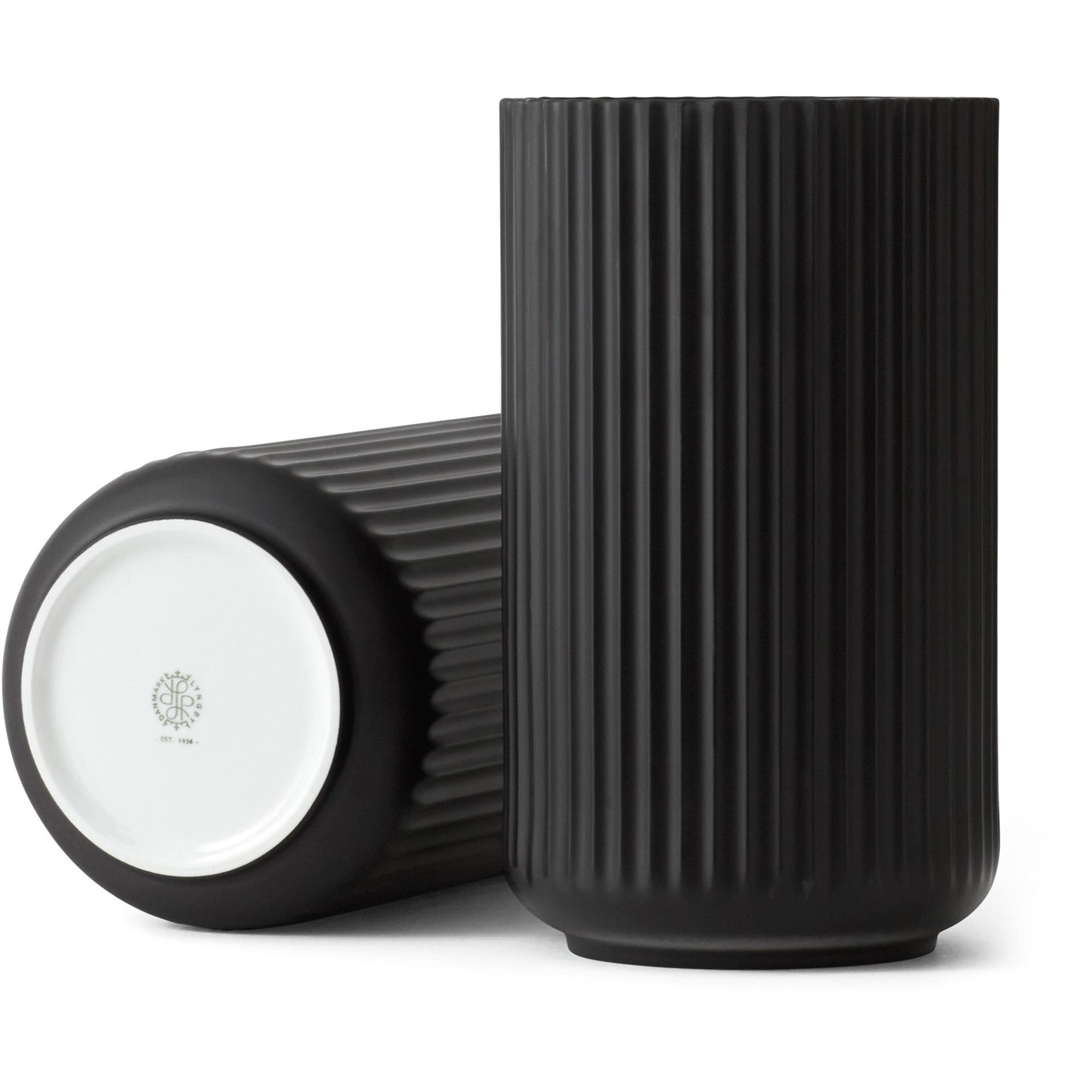 Lyngby Porcelæn Lyngbyvasen 38 cm. porslin – svart