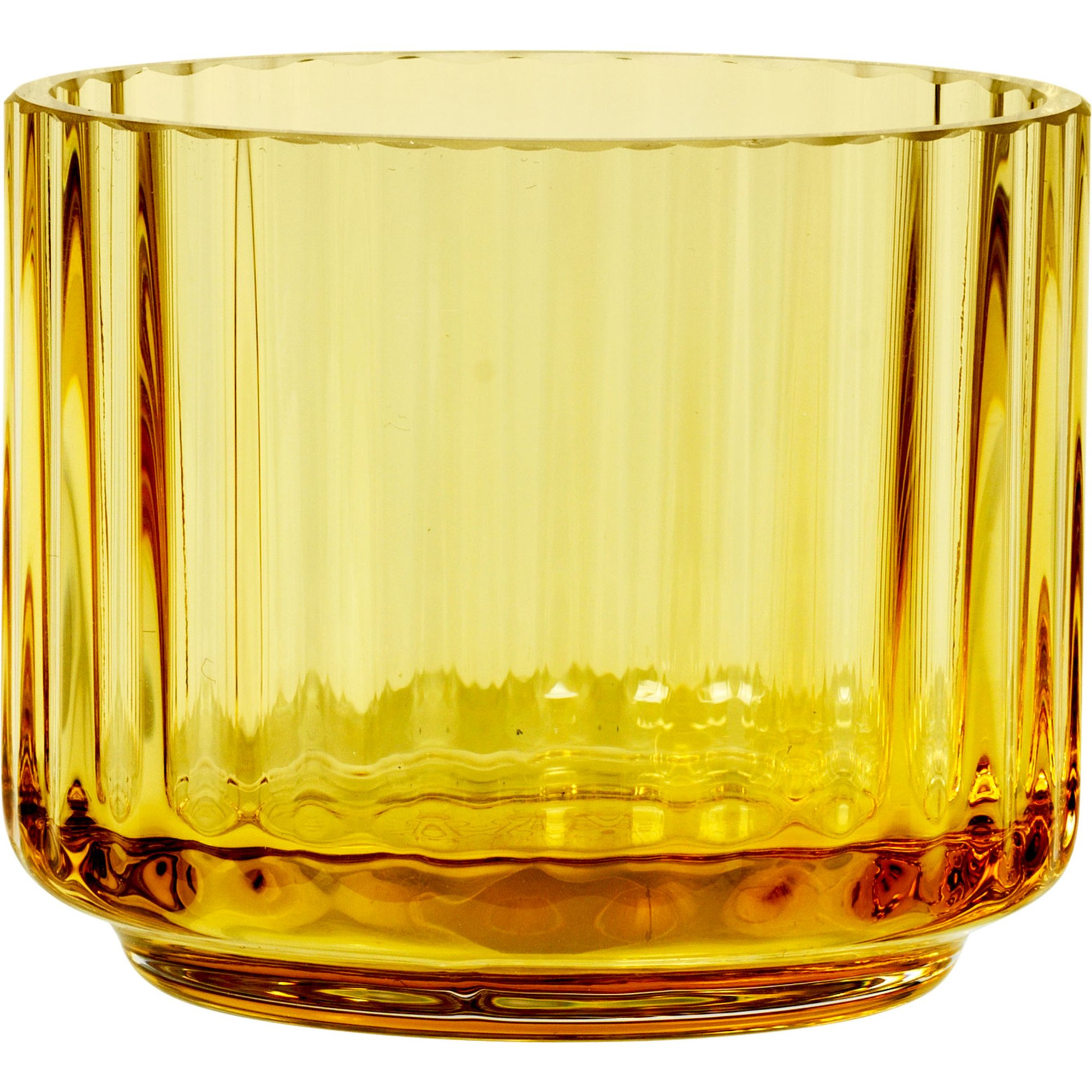 Lyngby Porcelæn Ljuslykta glas liten amber