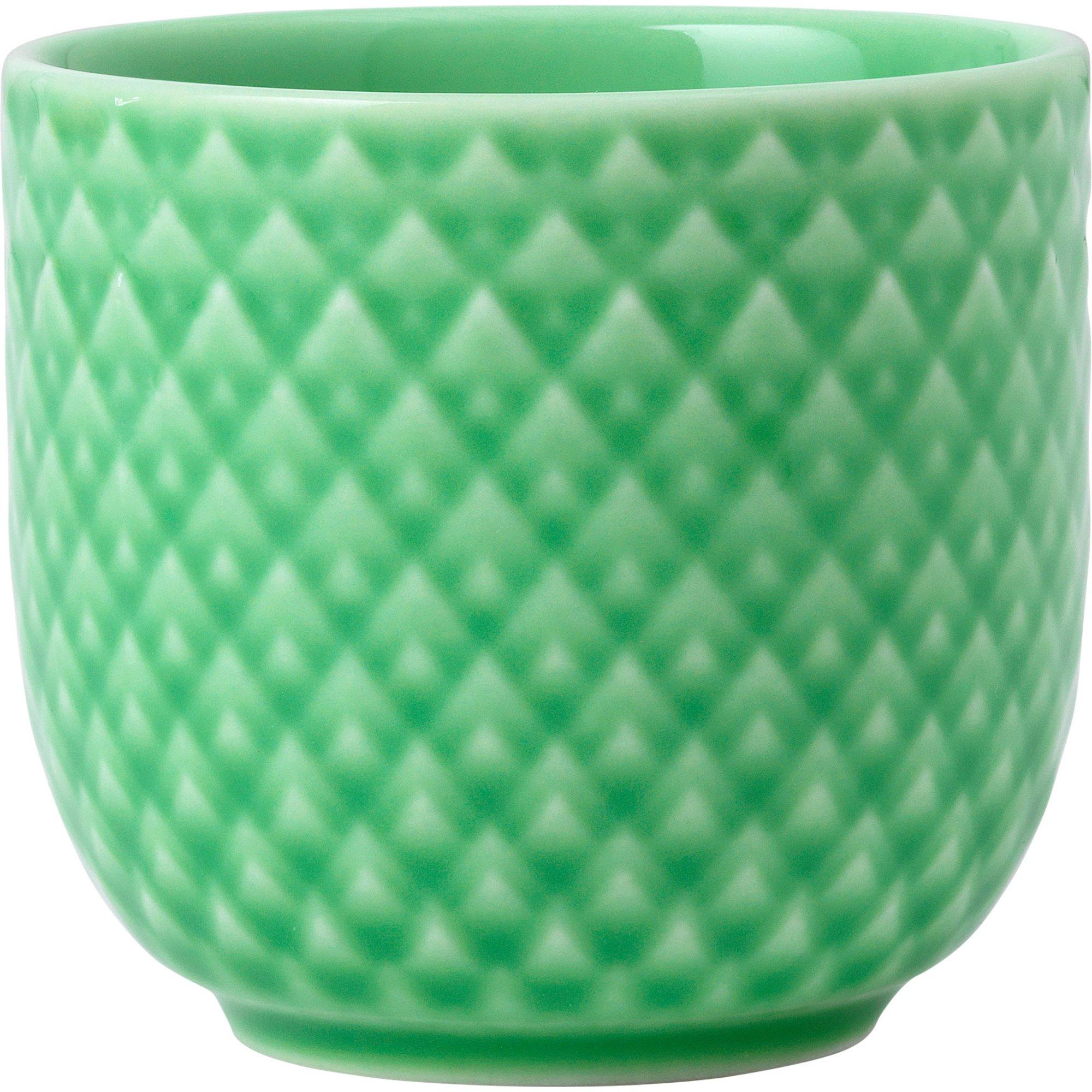 Lyngby Porcelæn Rhombe Color äggkopp 5 cm. Grön