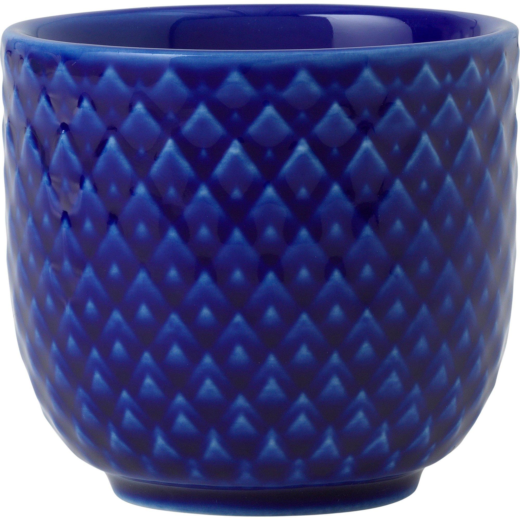 Lyngby Porcelæn Rhombe Color äggkopp 5 cm. Mörkblå