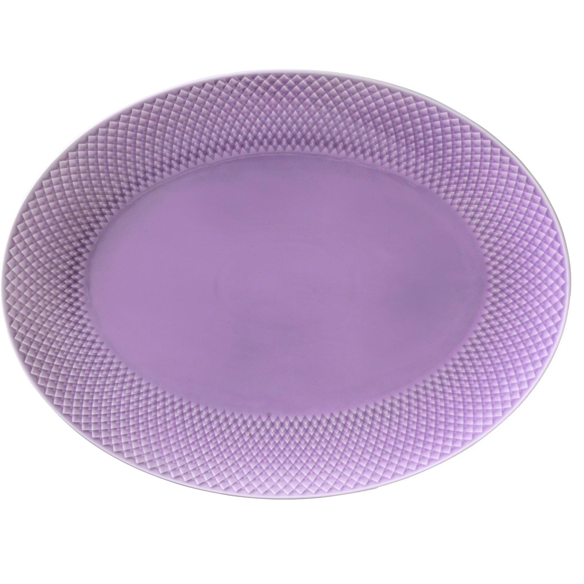 Lyngby Porcelæn Rhombe Color Ovalt Serveringsfat 35×265 cm