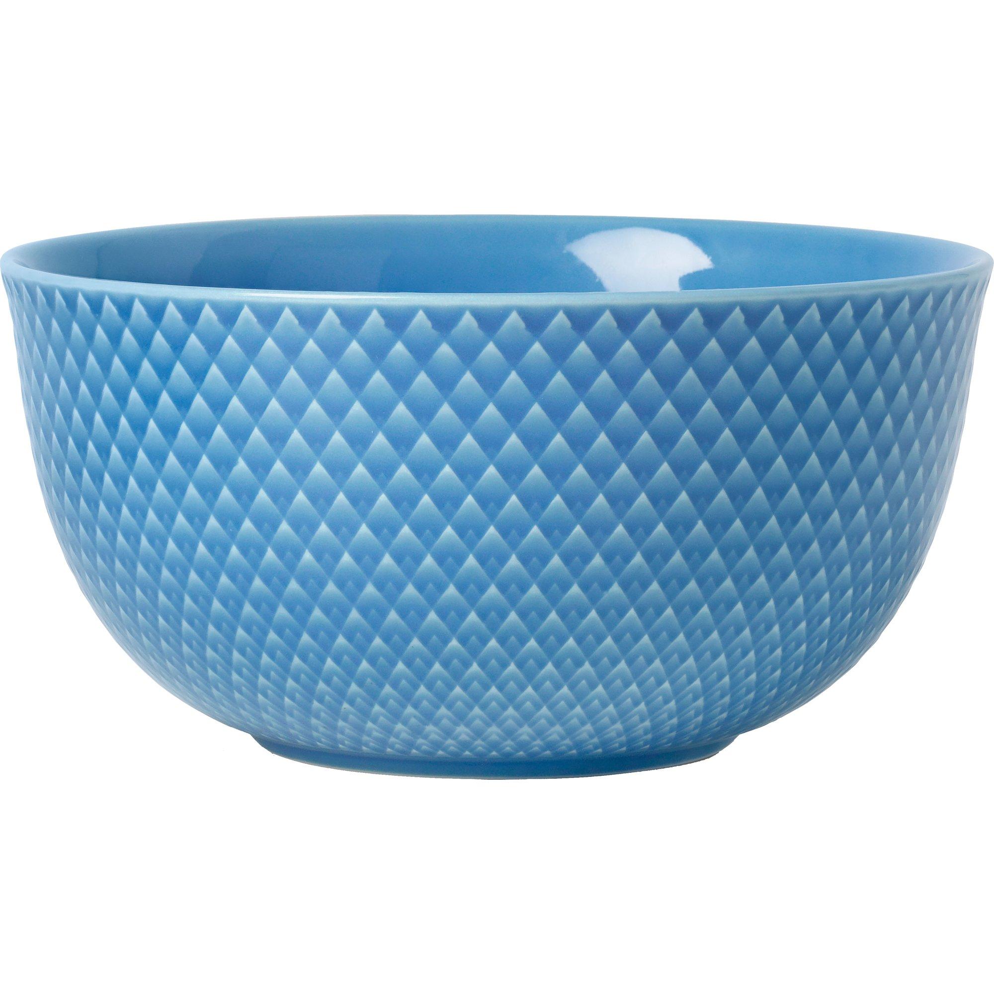 Lyngby Porcelæn Rhombe Color Serveringsskål Blå 175 cm