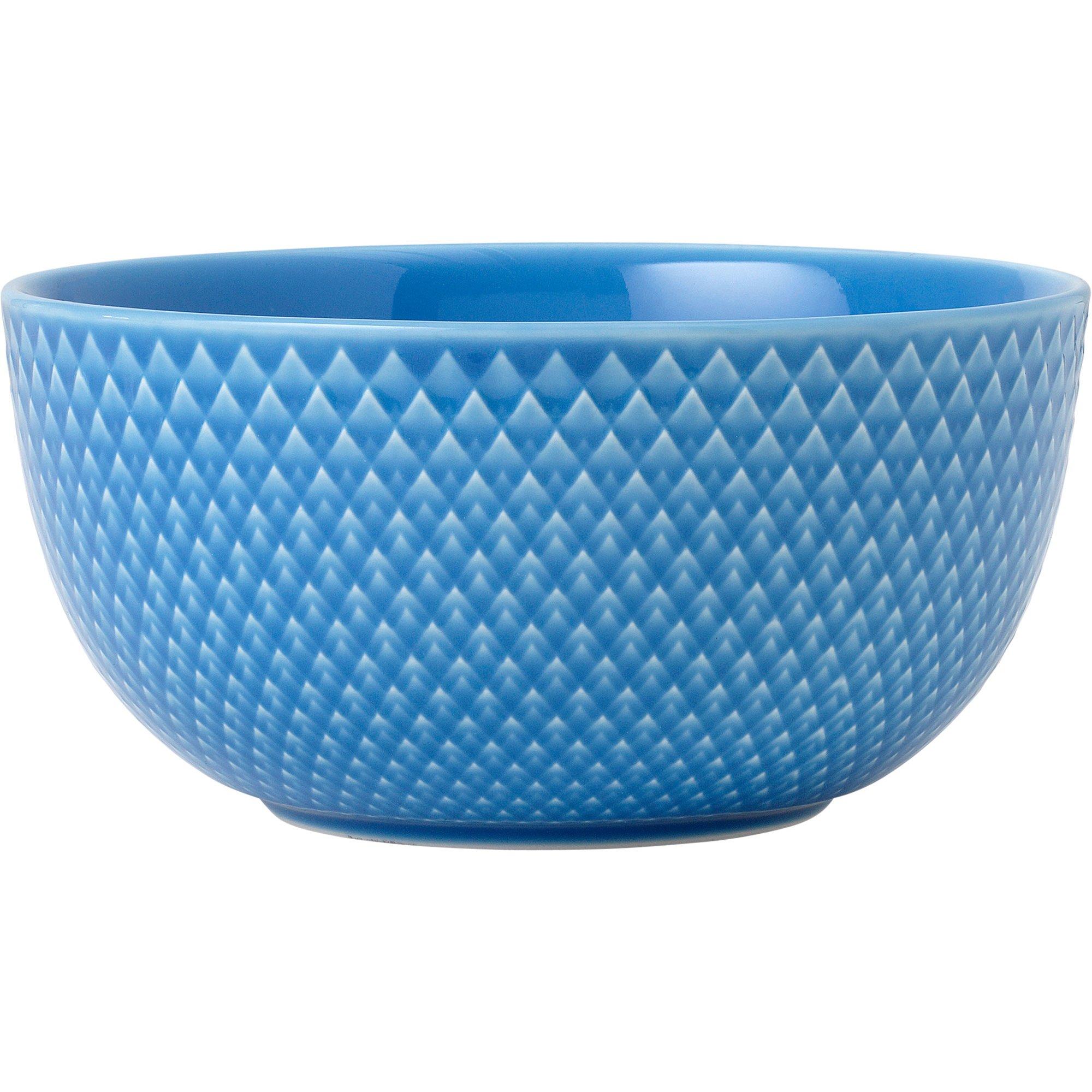 Lyngby Porcelæn Rhombe Color Skål 13 cm. blå