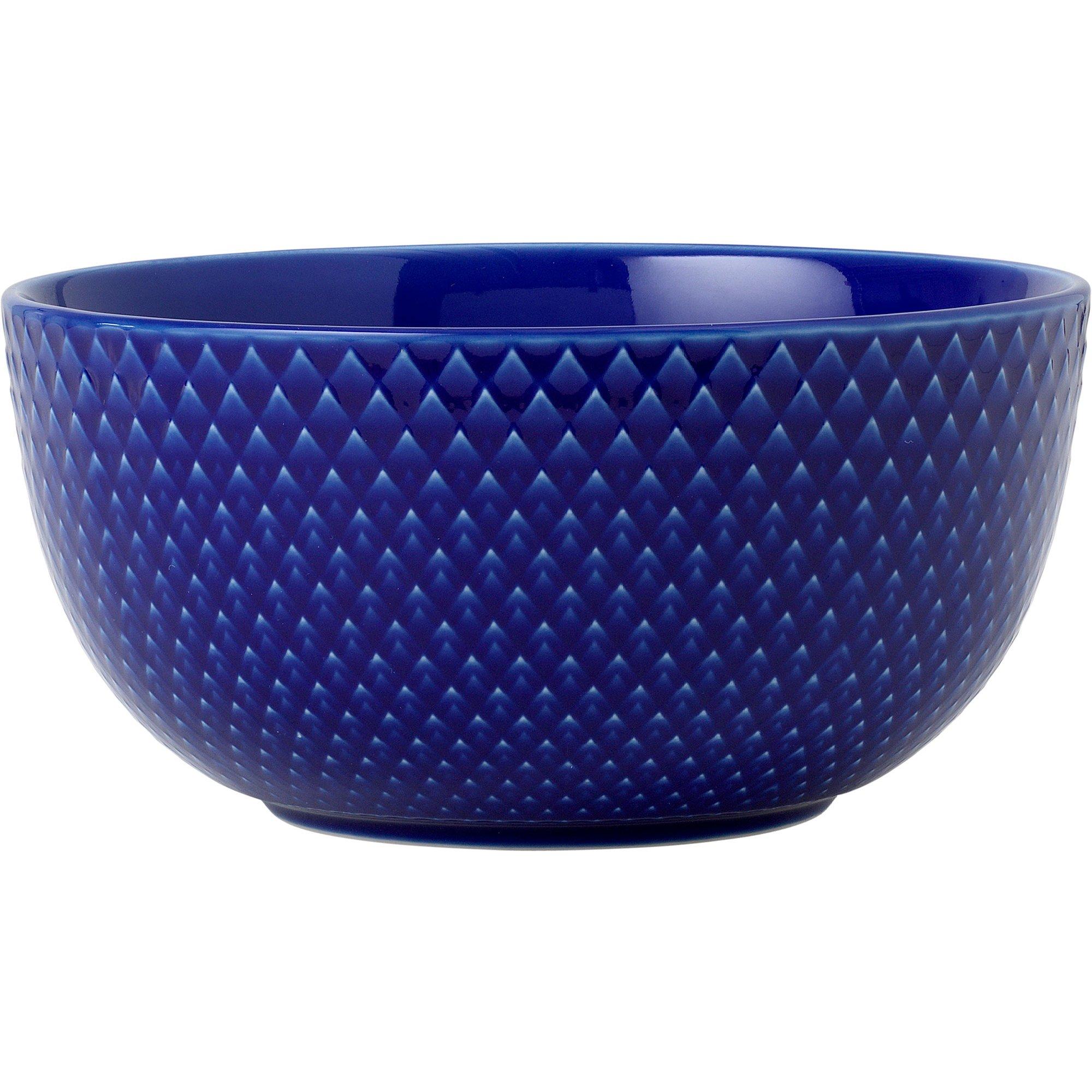 Lyngby Porcelæn Rhombe Color Skål 13 cm. Mörkblå