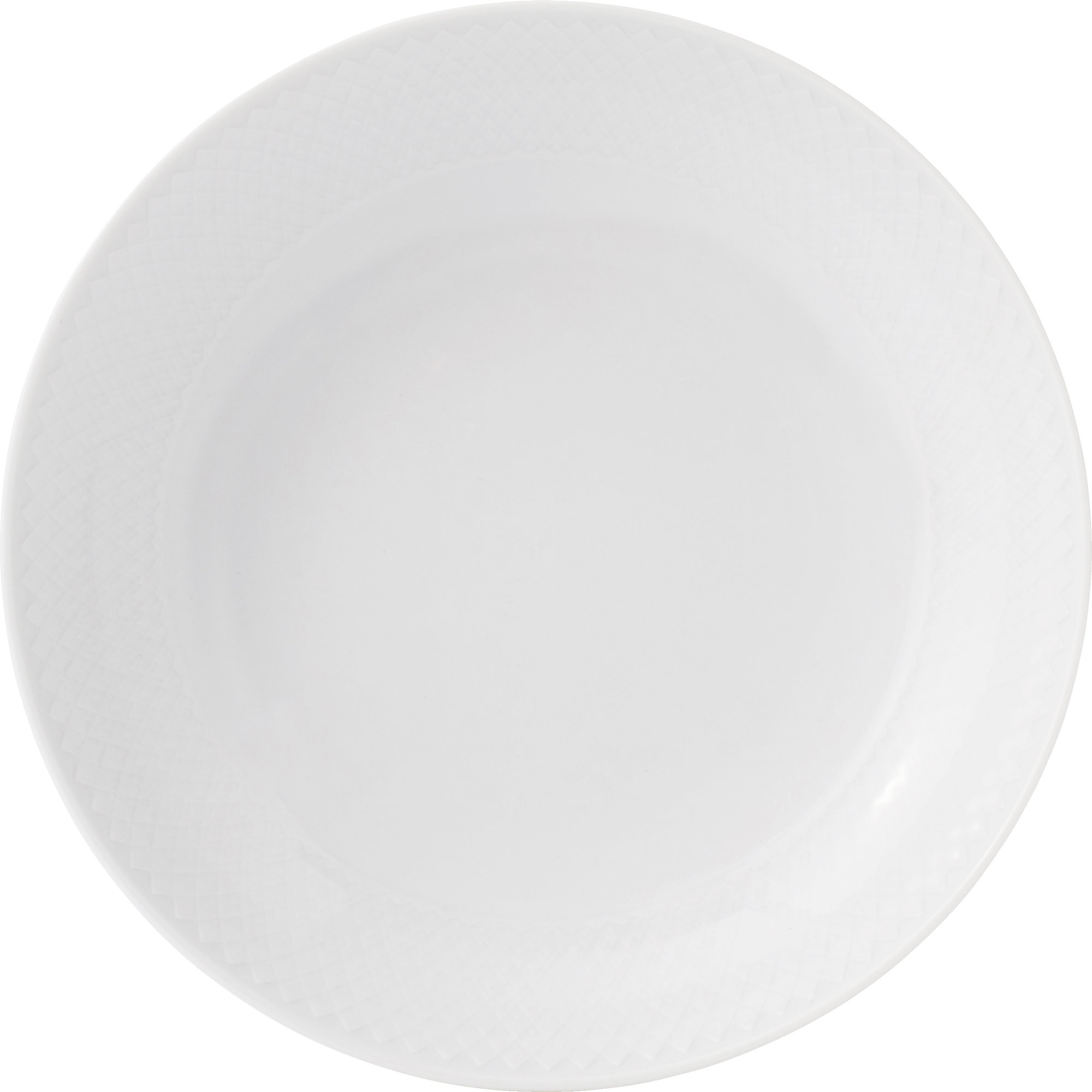 Lyngby Porcelæn Rhombe Tallrik 20 cm Vit