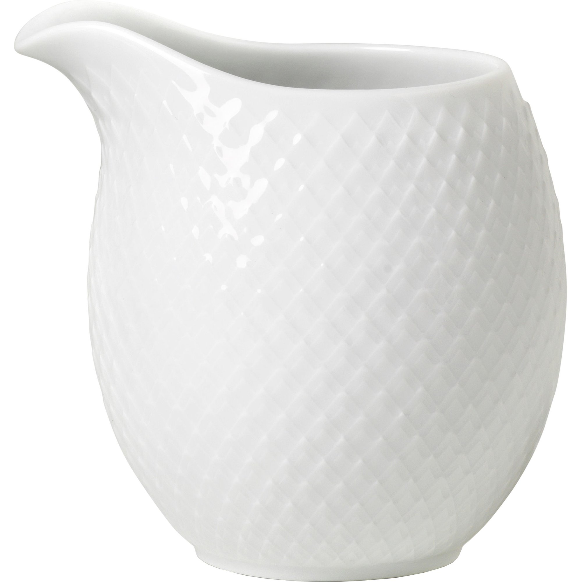 Lyngby Porcelæn Rhombe Mjölkkanna 39 cl Vit