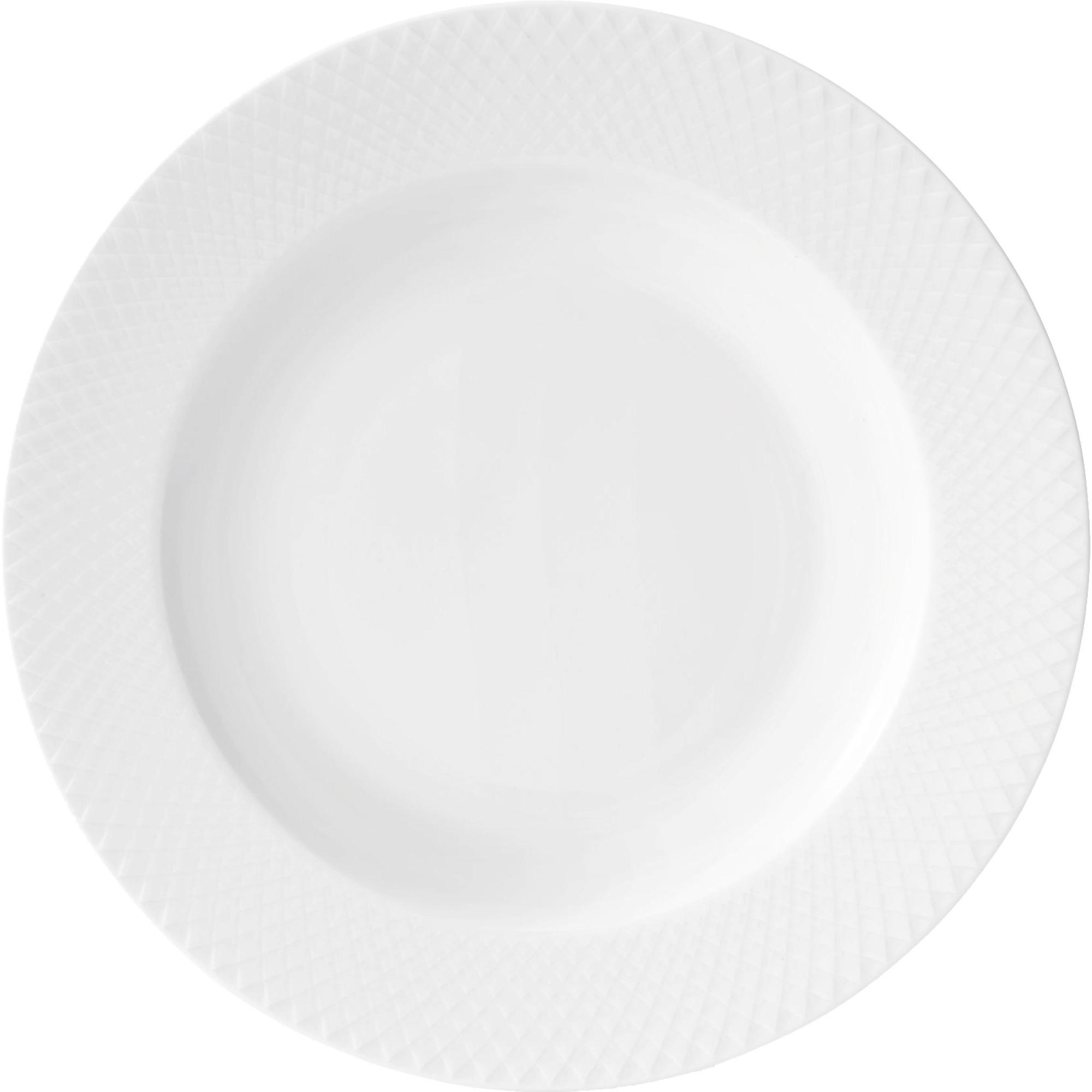 Lyngby Porcelæn Rhombe Djuptallrik 23 cm Vit