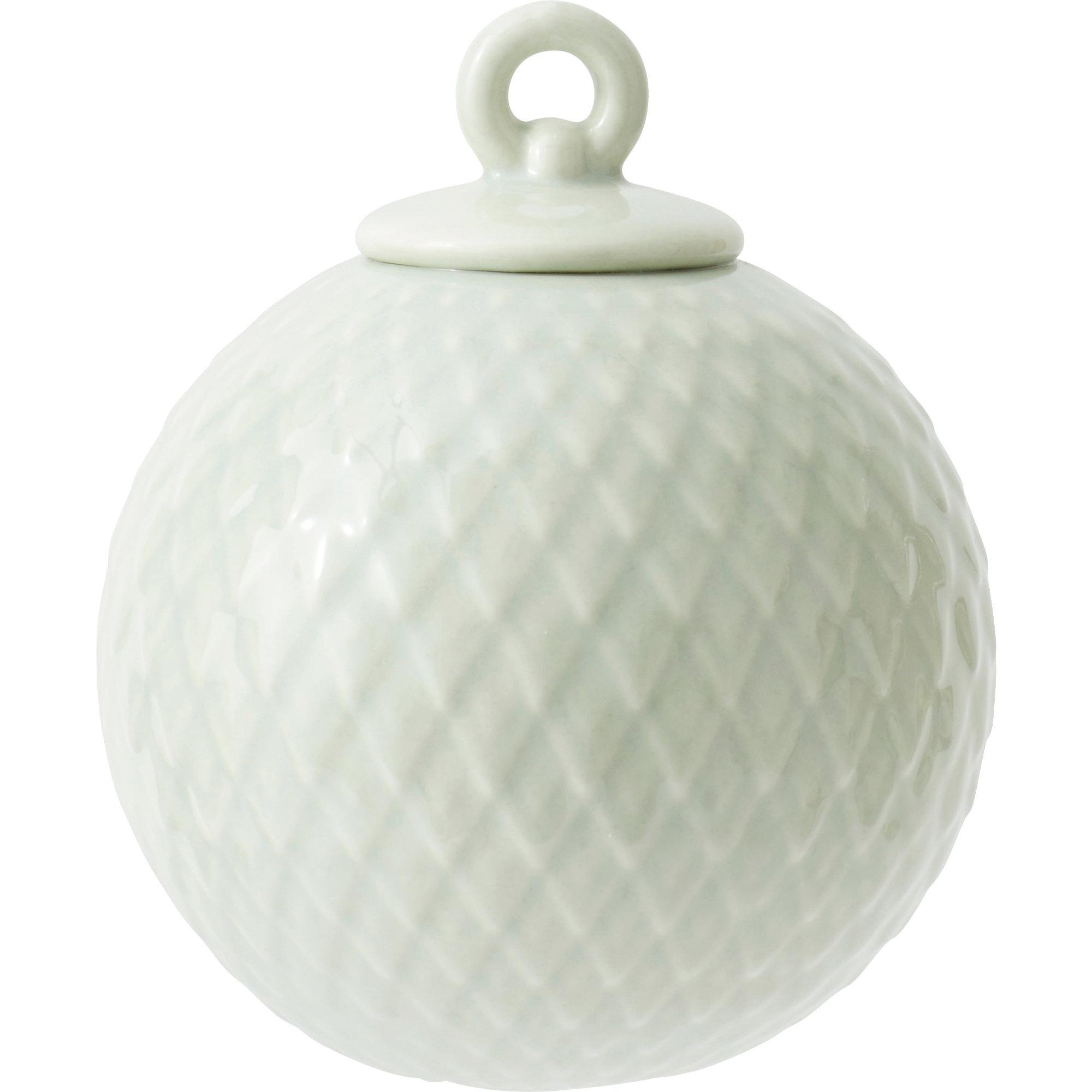 Lyngby Porcelæn Rhombe kula ljusgrön