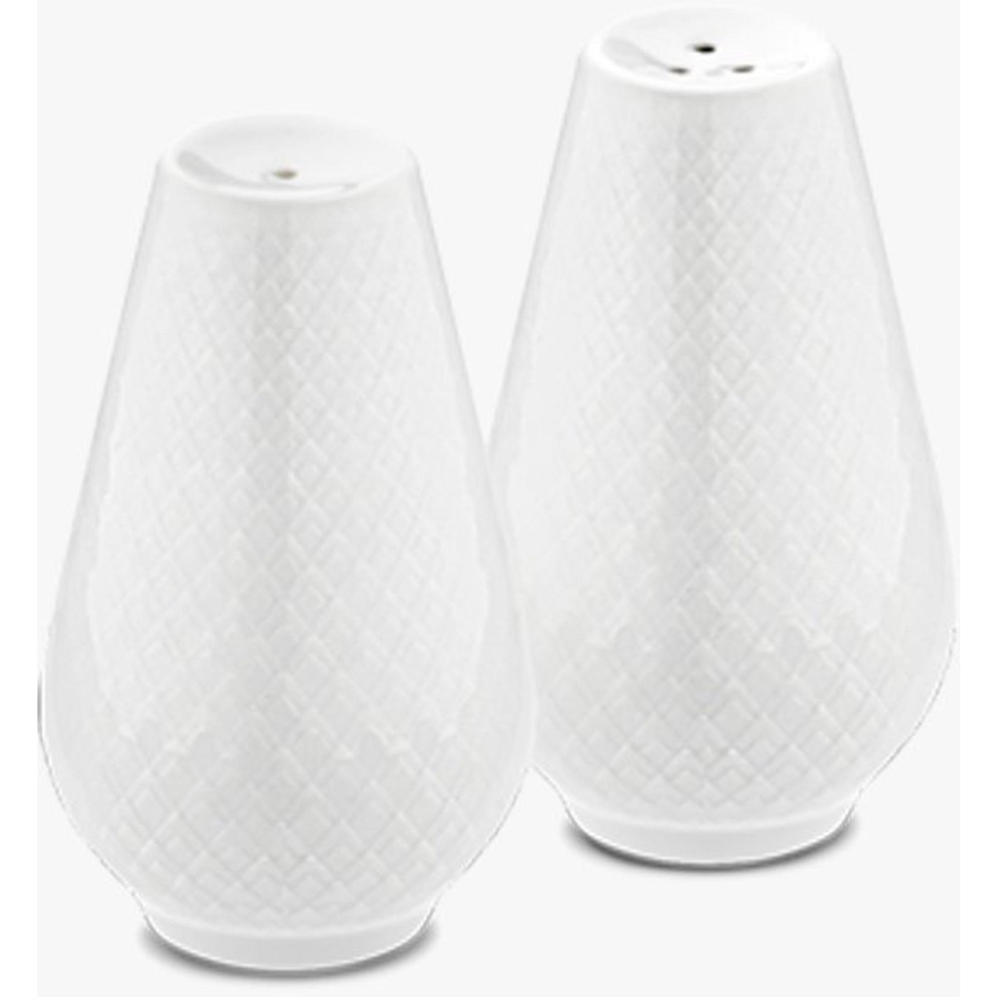 Lyngby Porcelæn Rhombe Salt- och pepparset H7 vit porslin 2