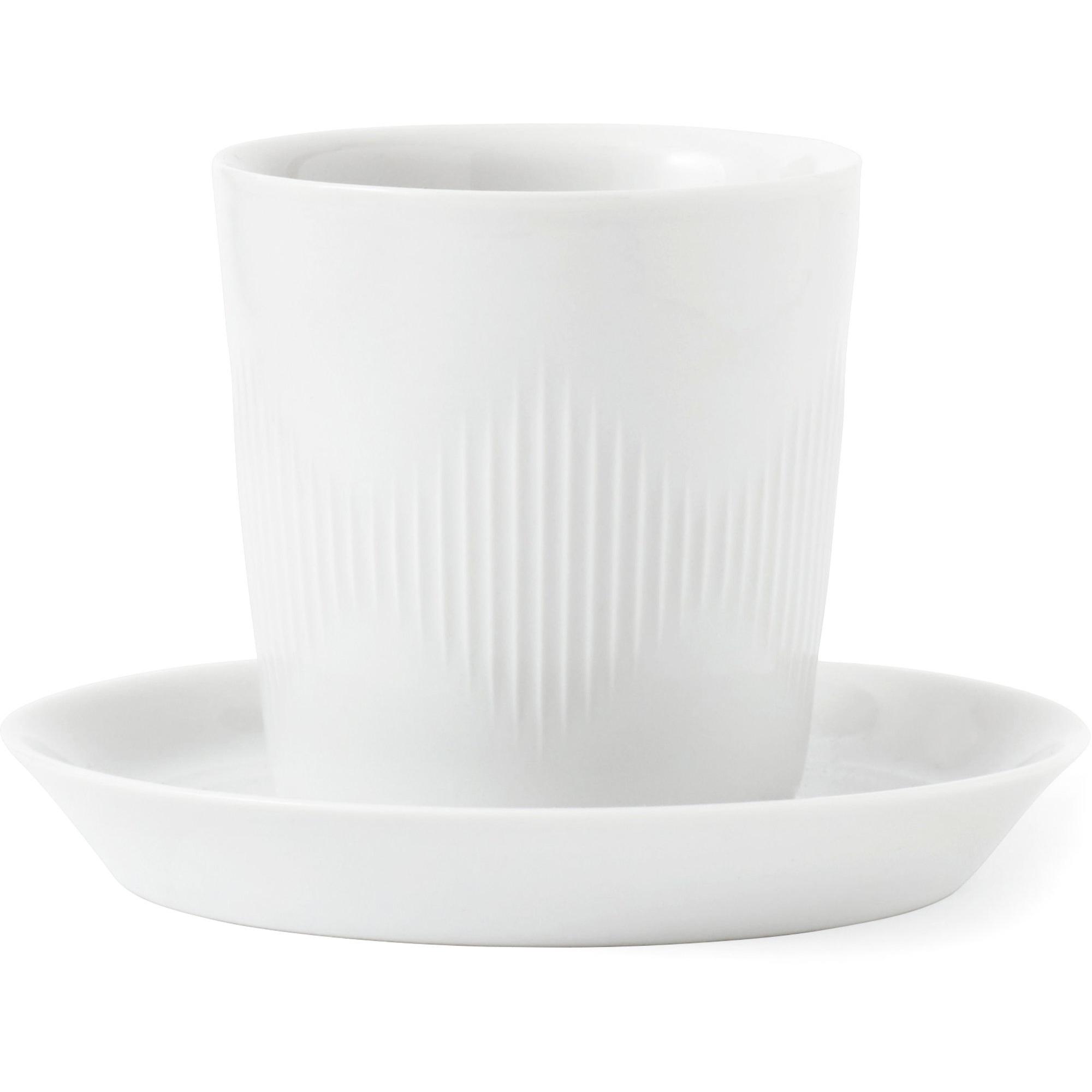 Lyngby Porcelæn Thermodan kaffekopp med fat