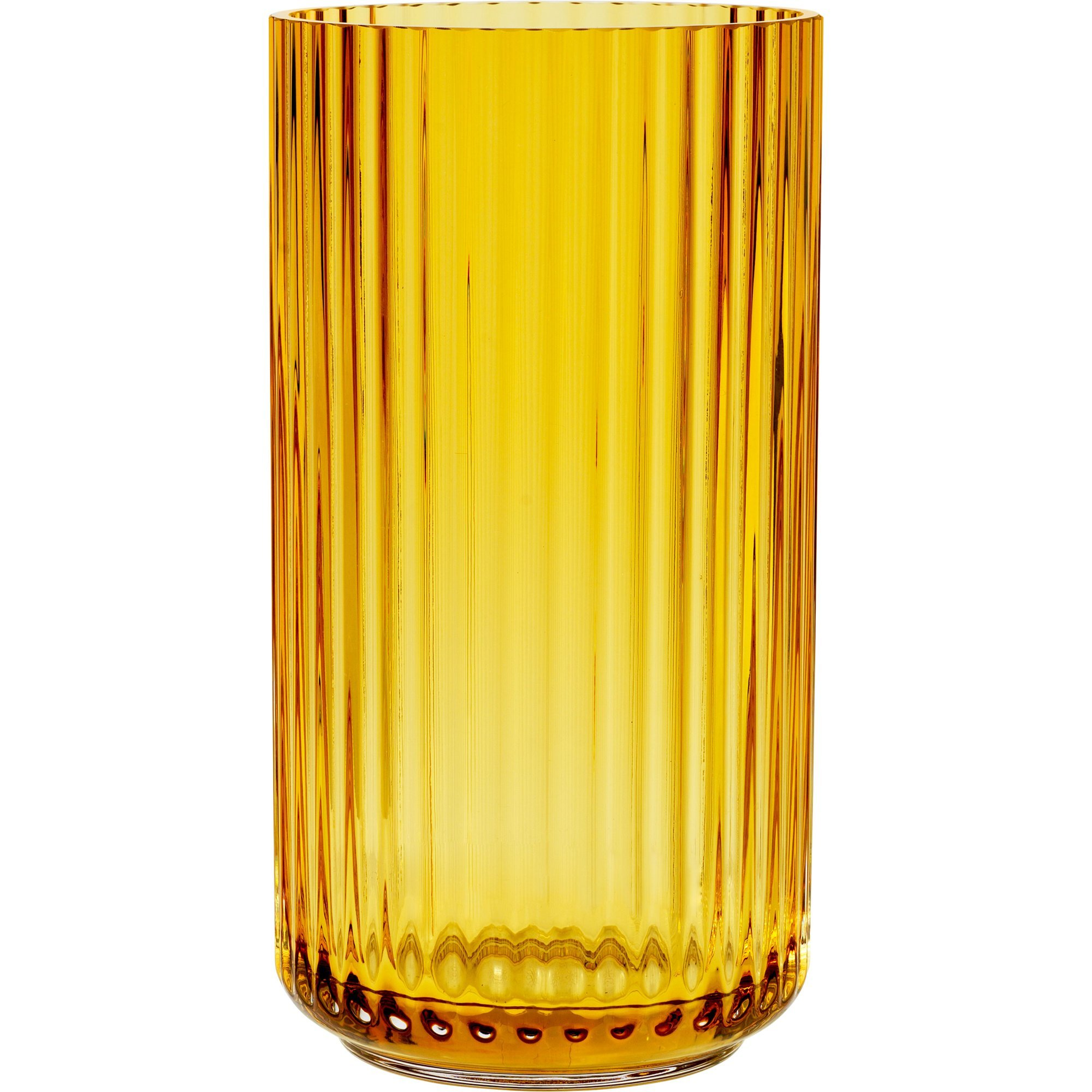 Lyngby Porcelæn Lyngbyvasen 15 cm. glas – amber