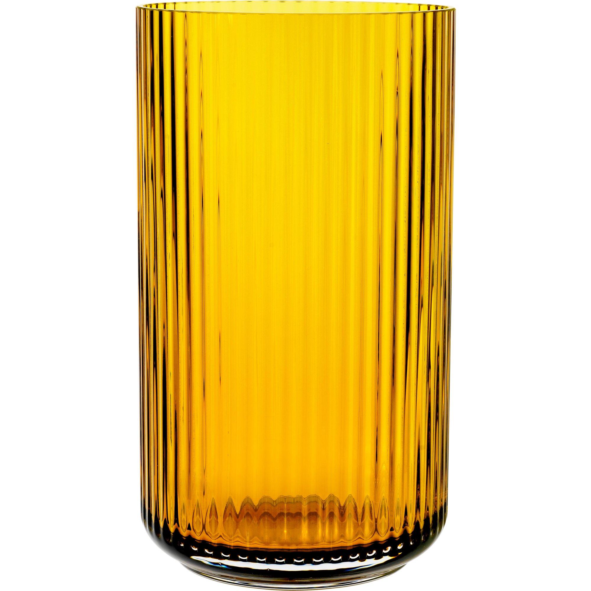 Lyngby Porcelæn Lyngbyvasen 25 cm. glas – amber