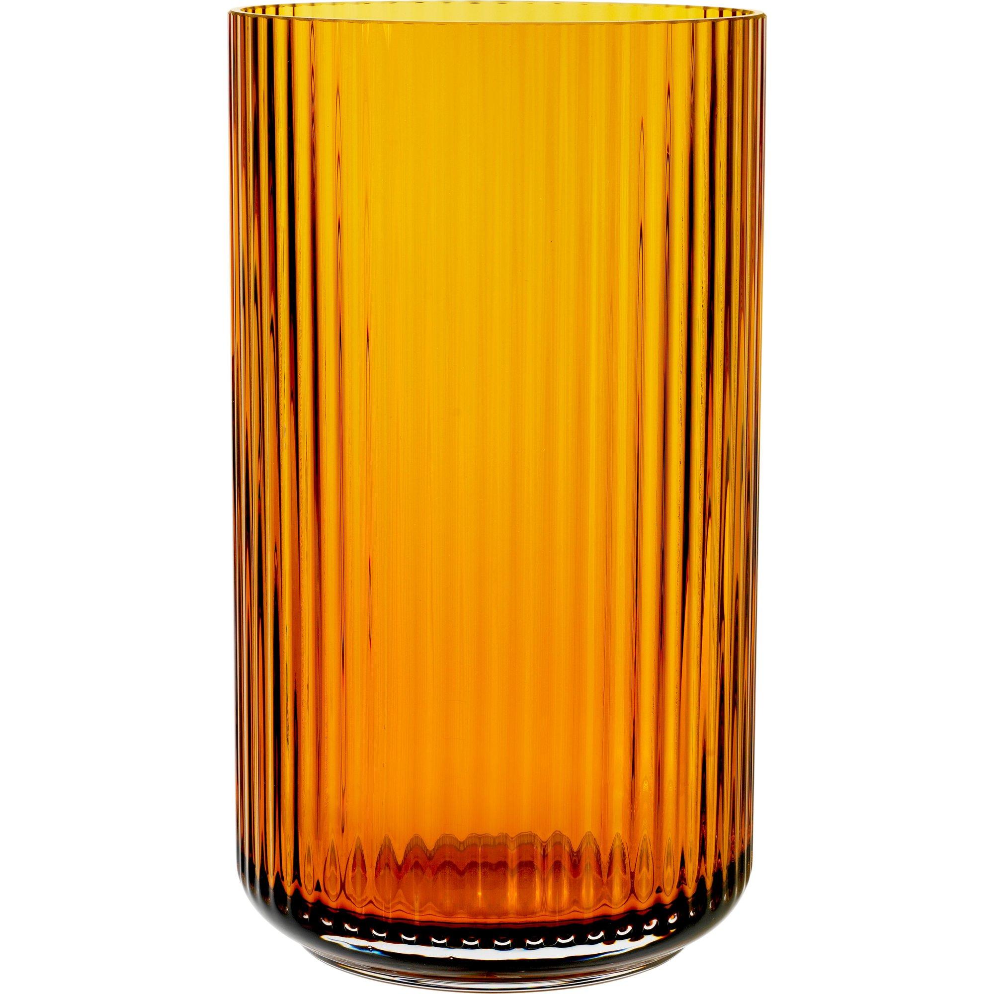 Lyngby Porcelæn Lyngbyvasen 31 cm. glas – amber