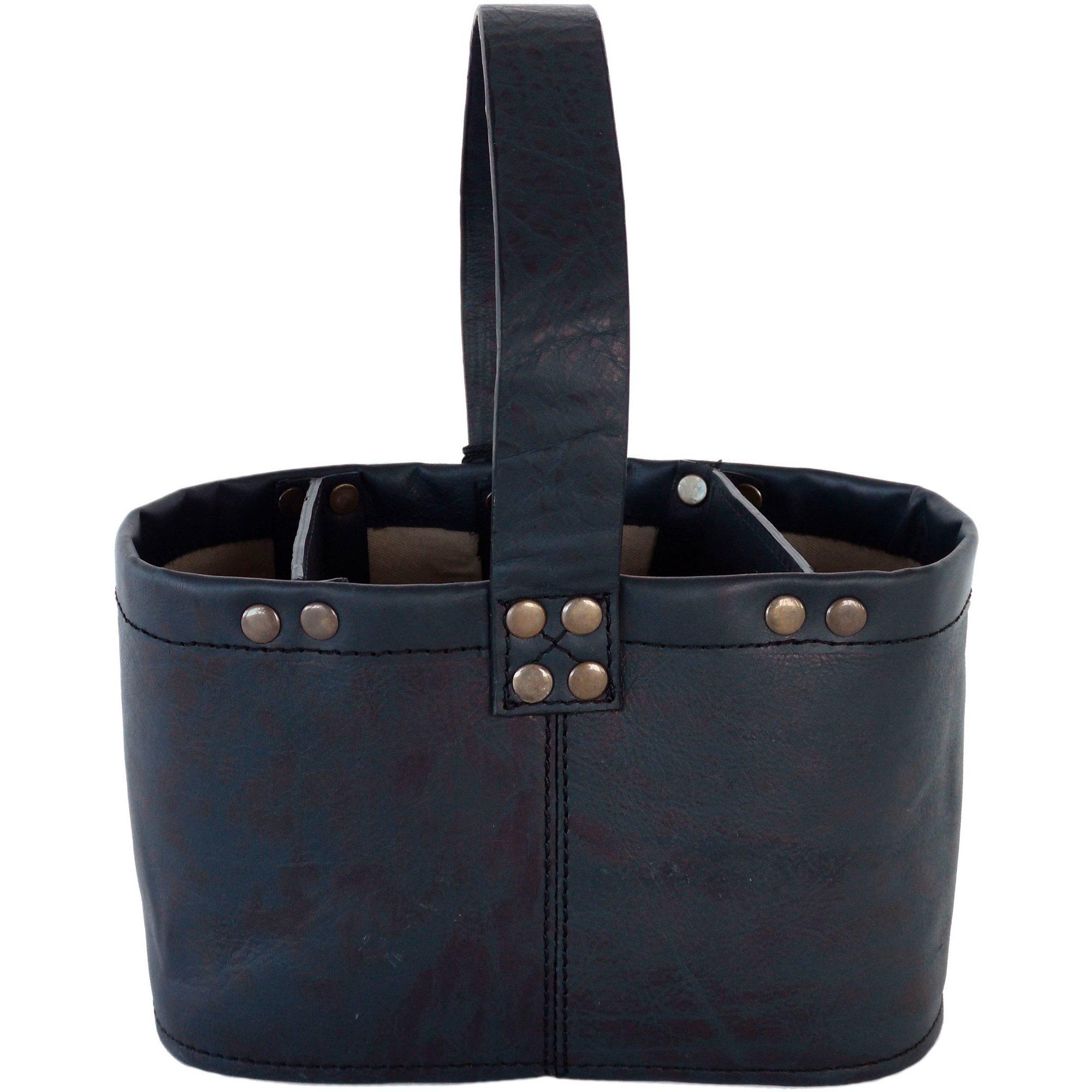 Mareld Bestick och Servettställ i svart läder
