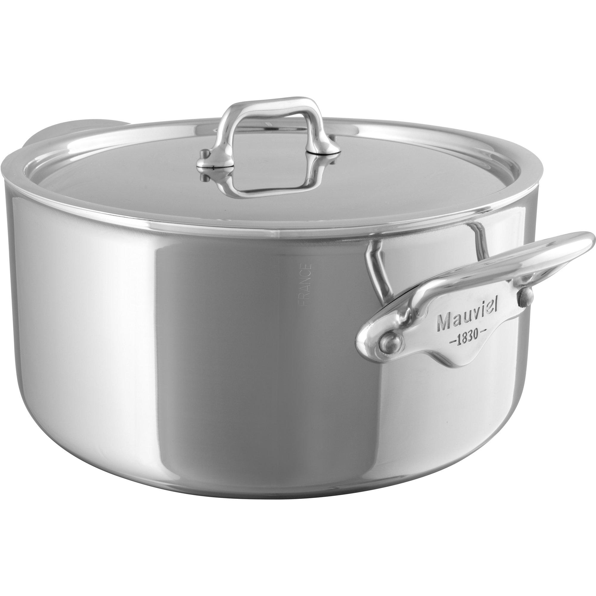 Mauviel Cook Style gryta i stål med lock 86 liter