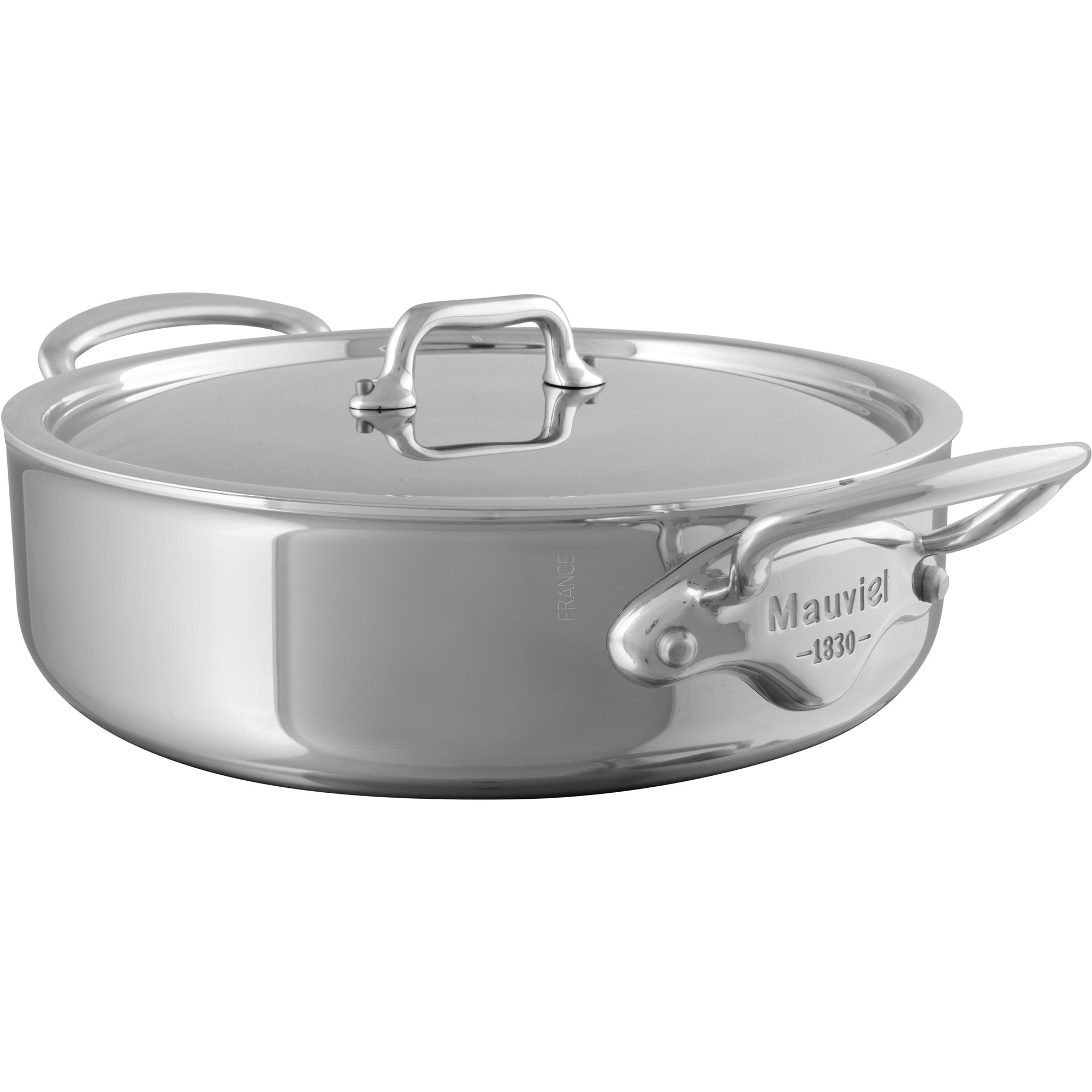 Mauviel Cook Style gryta med stållock 57 liter