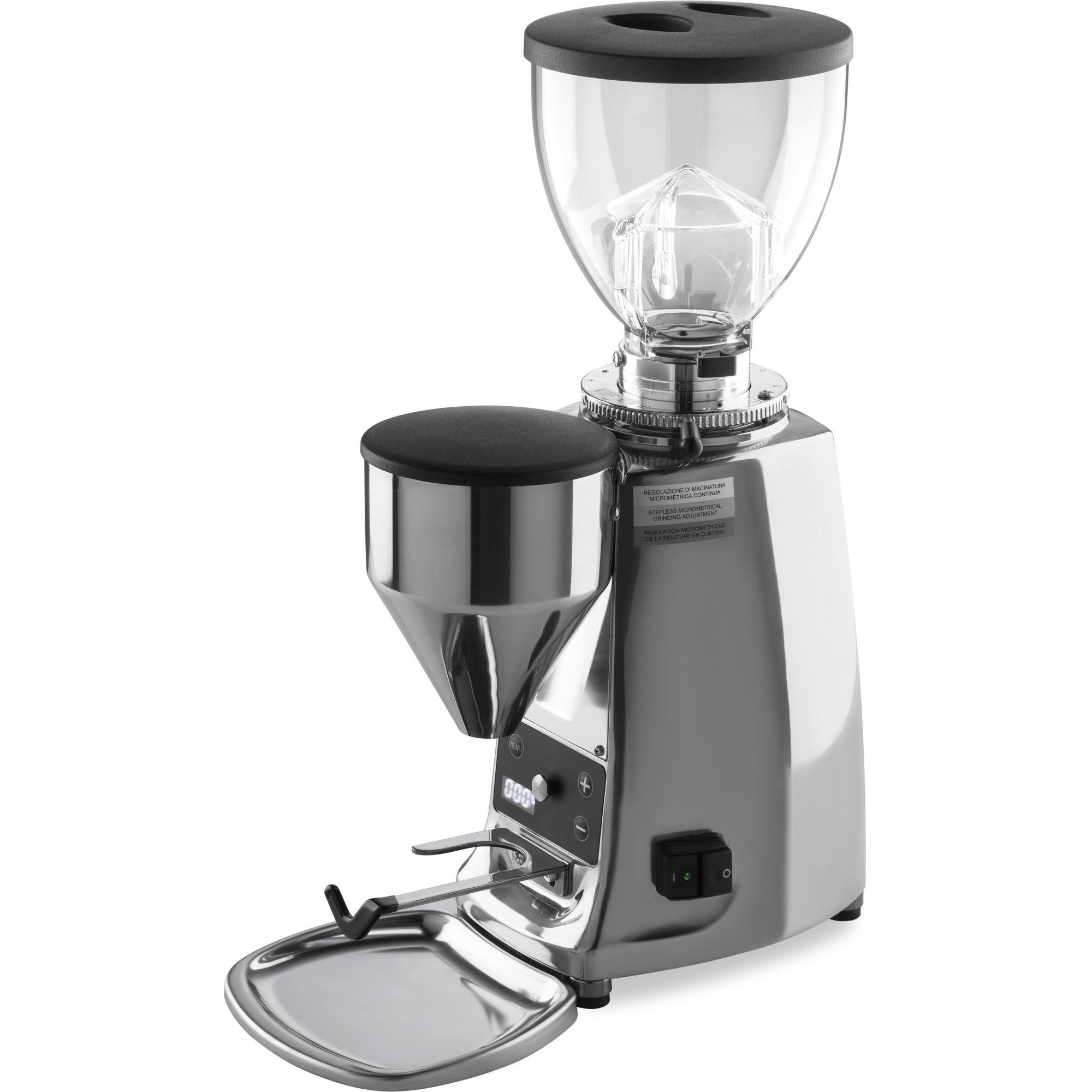 Mazzer Mini Electronic B Kaffekvarn Polerad Aluminium