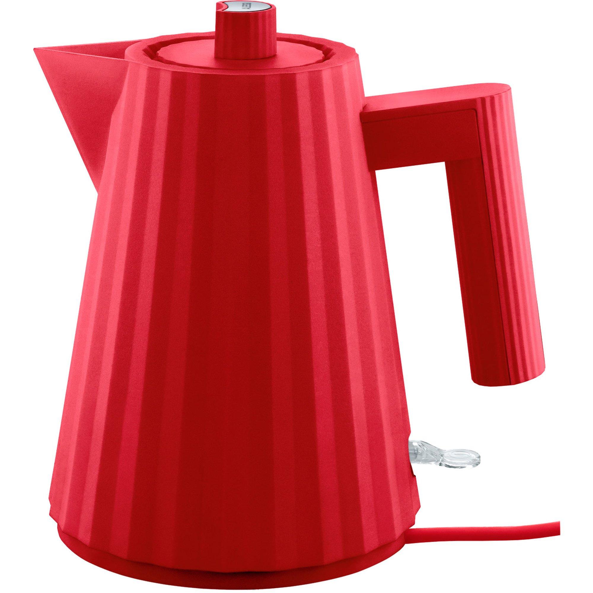 Alessi MDL06 Plissé vattenkokare 1 liter röd