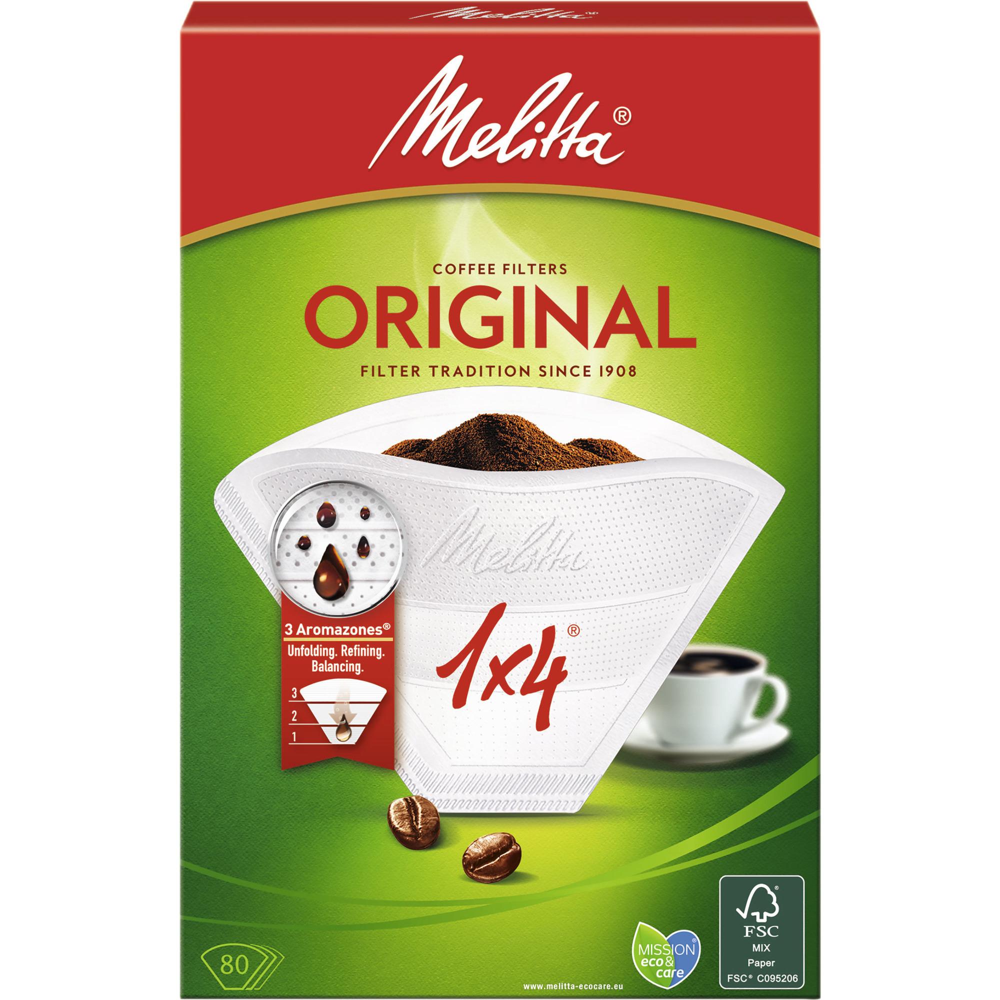 Melitta Kaffefilter 1×4/80 Vit