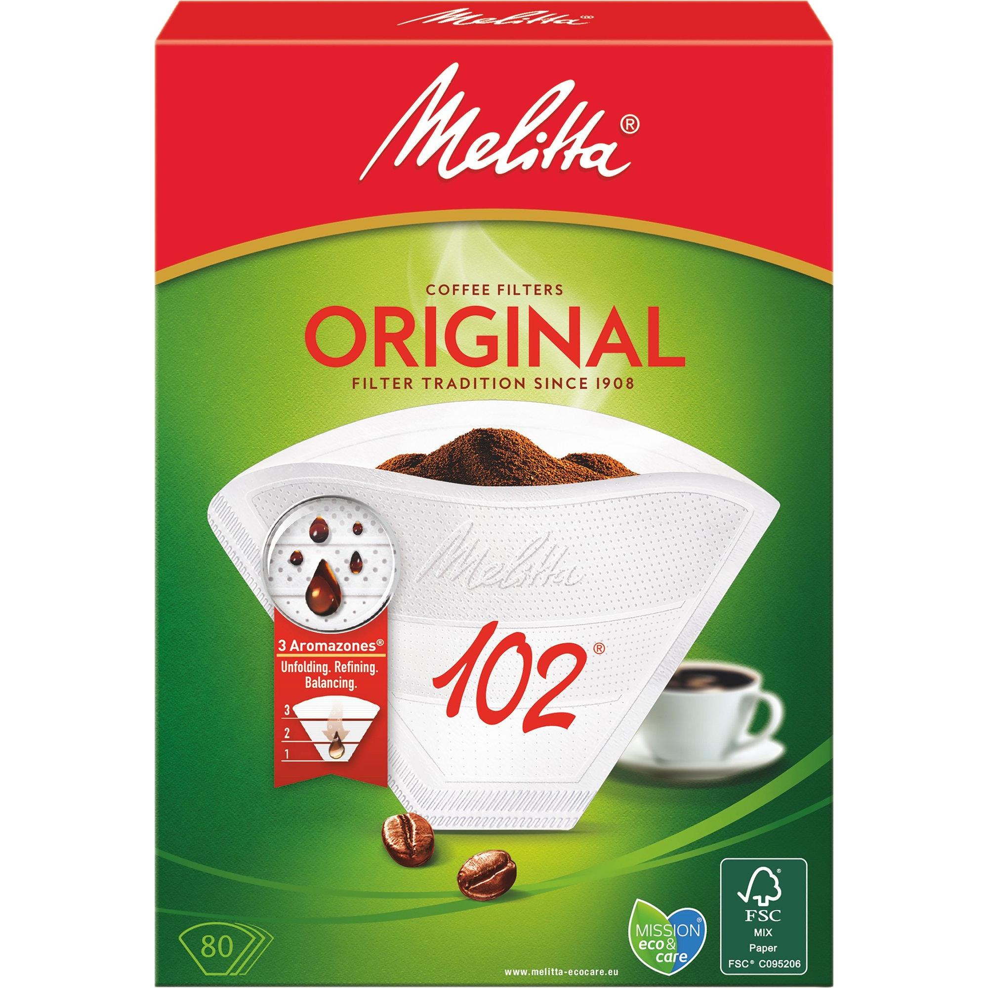 Melitta Kaffefilter 102/80 Vit