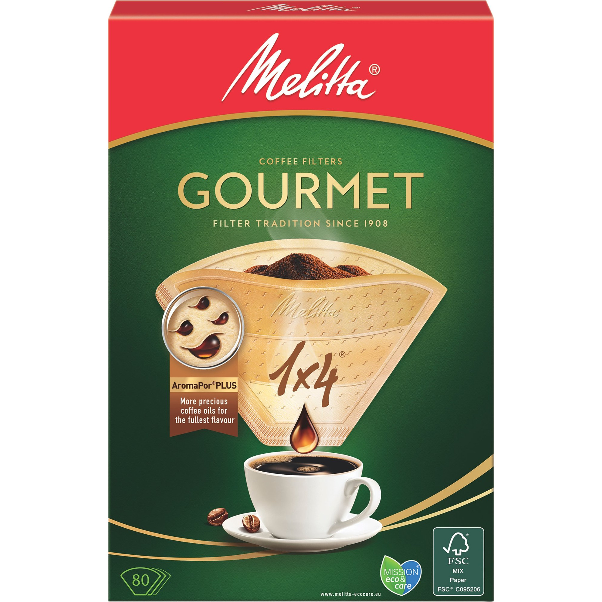 Melitta Kaffefilter 1×4/80 Gourmet