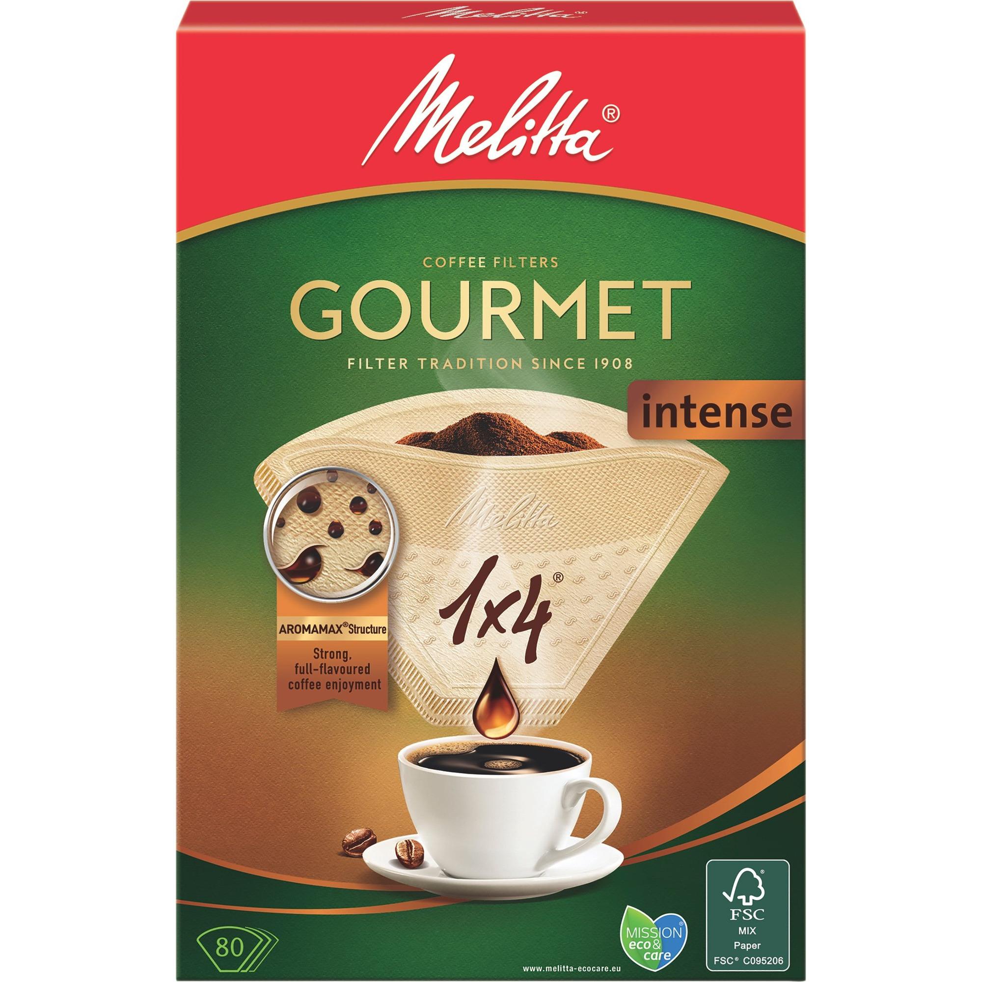 Melitta Kaffefilter 1×4/80 Gourmet intense