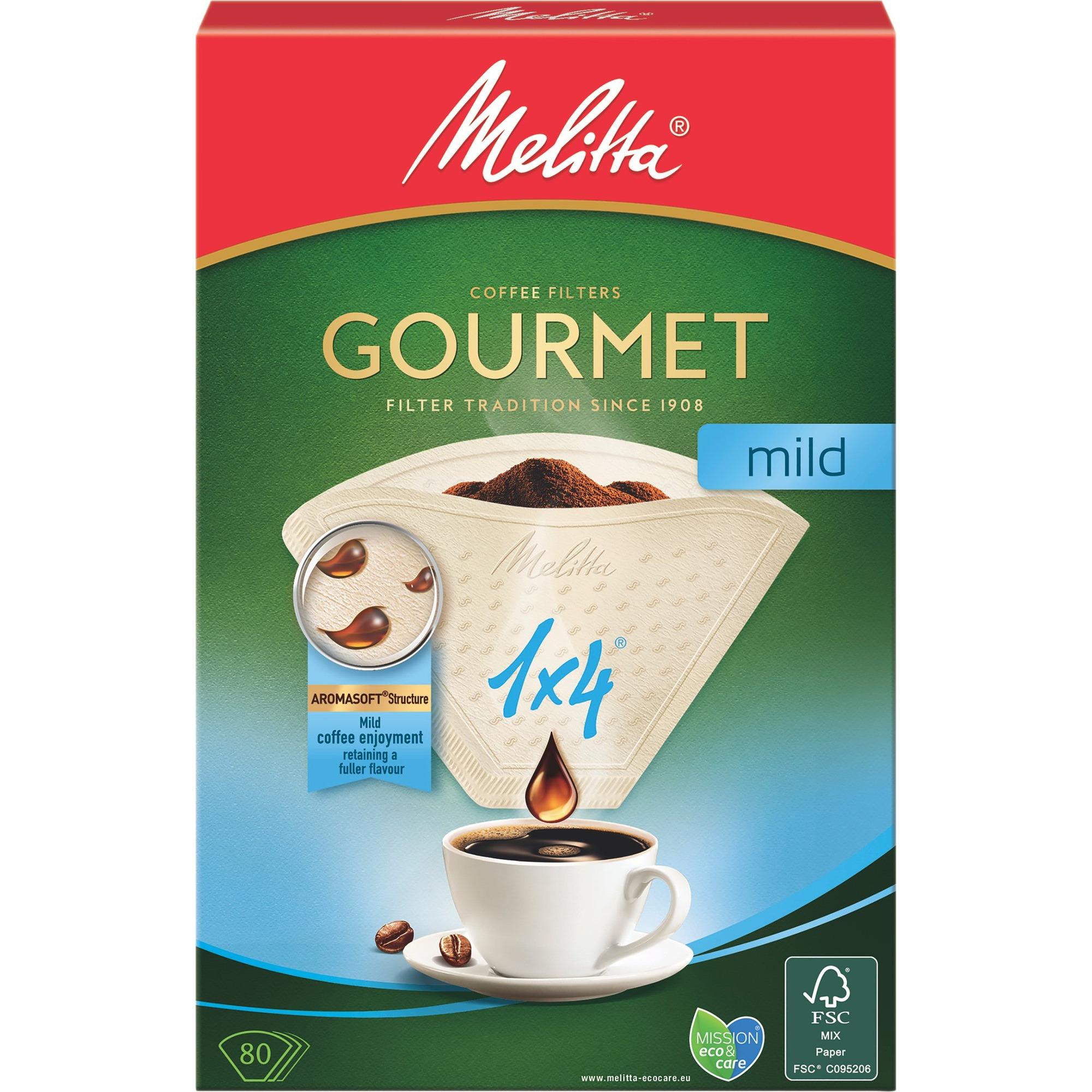 Melitta Kaffefilter 1×4/80 Gourmet mild