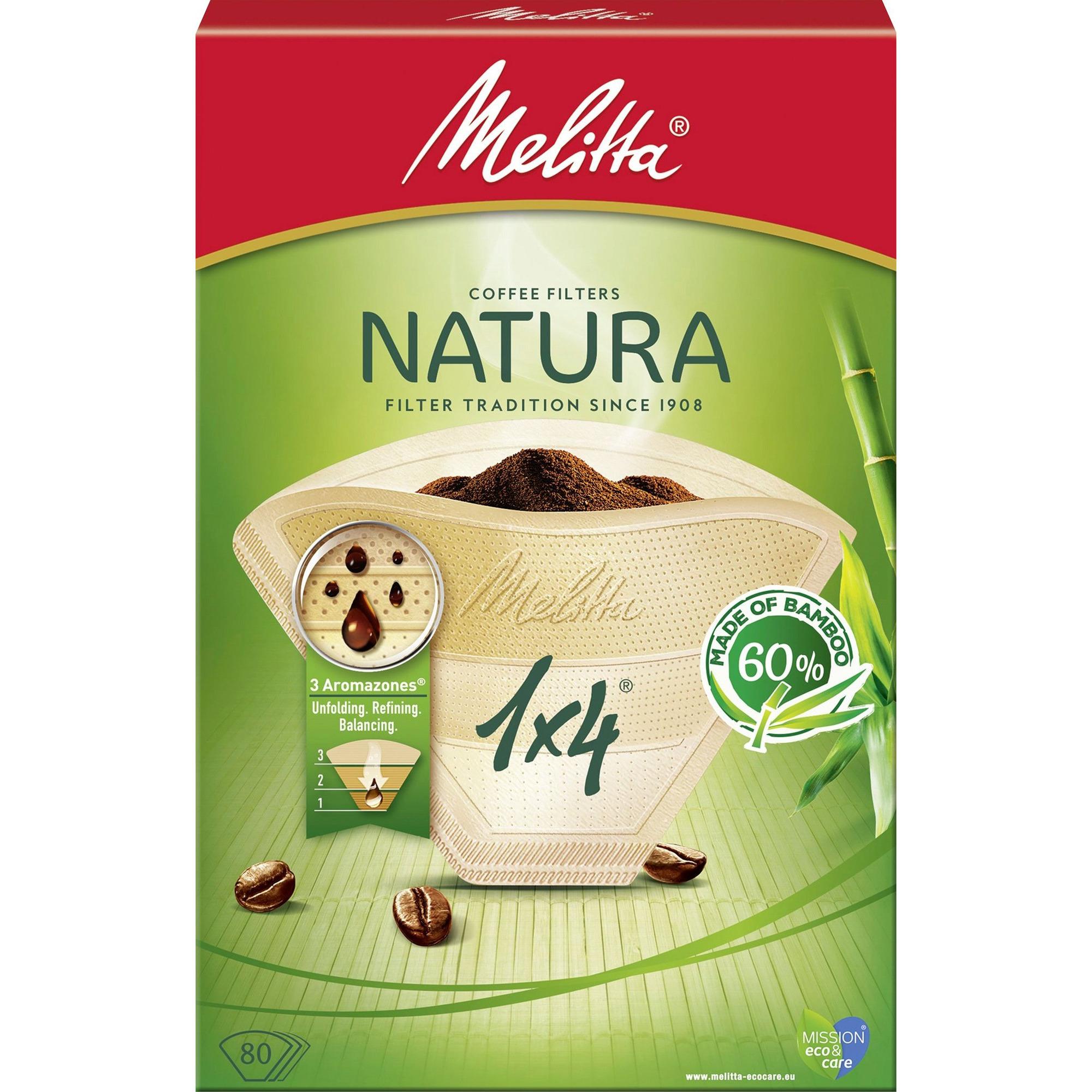 Melitta Kaffefilter 1×4/80 Natura