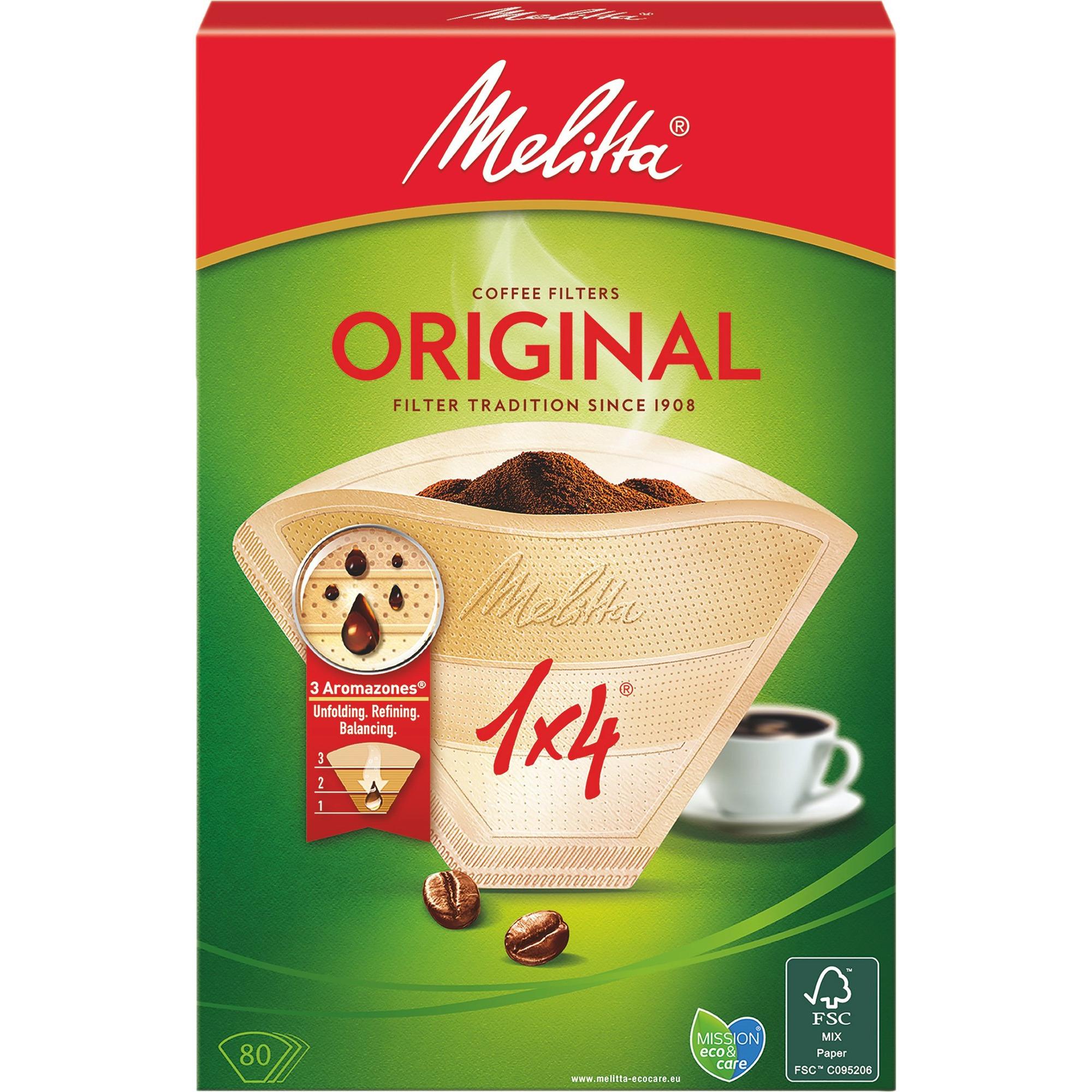 Melitta Kaffefilter 1×4/80