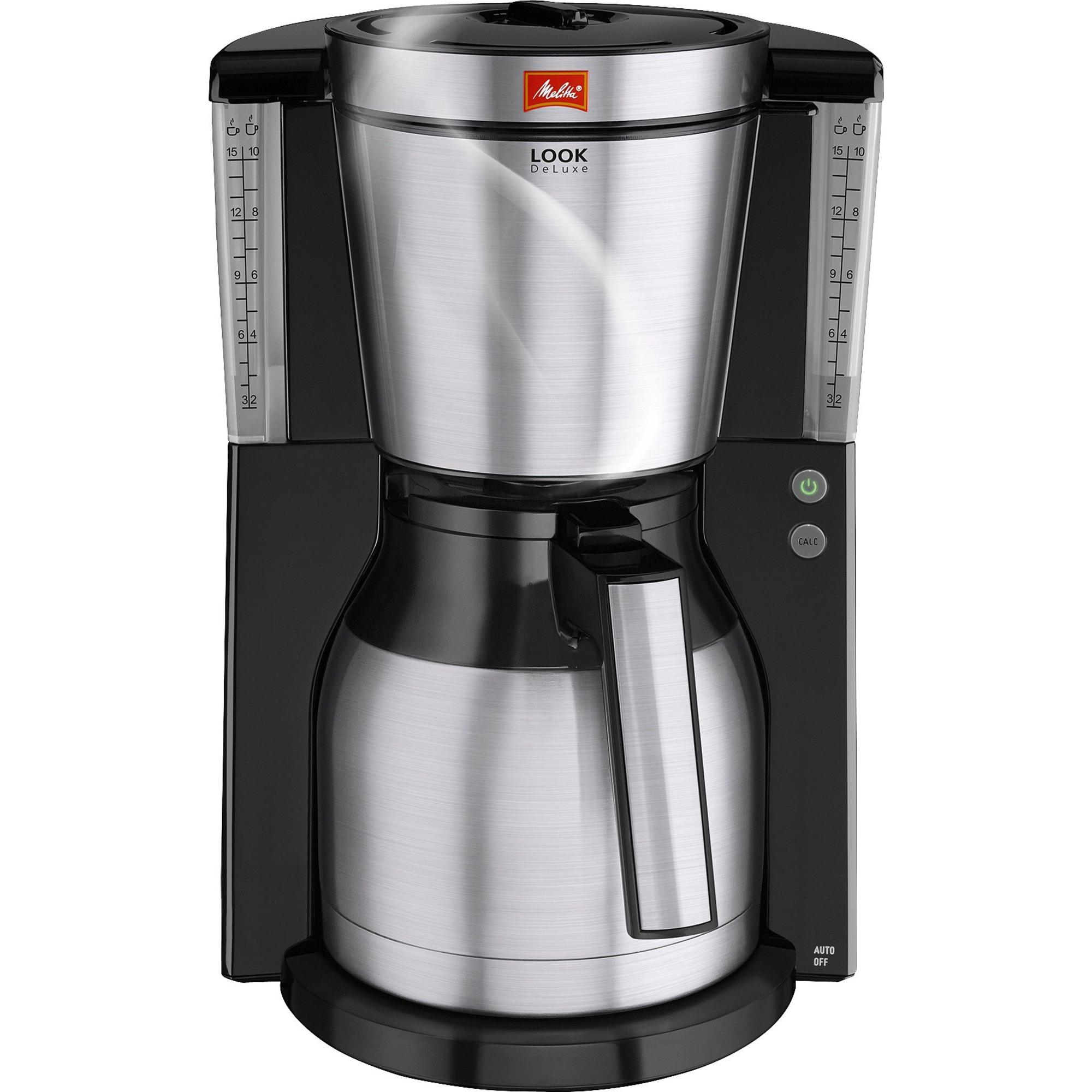 Melitta Look Deluxe Therm Kaffemaskin Svart