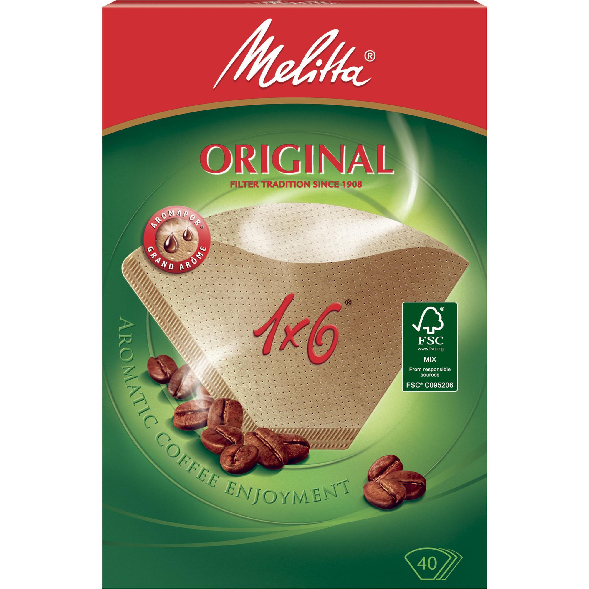 Melitta Kaffefilter 1×6/40