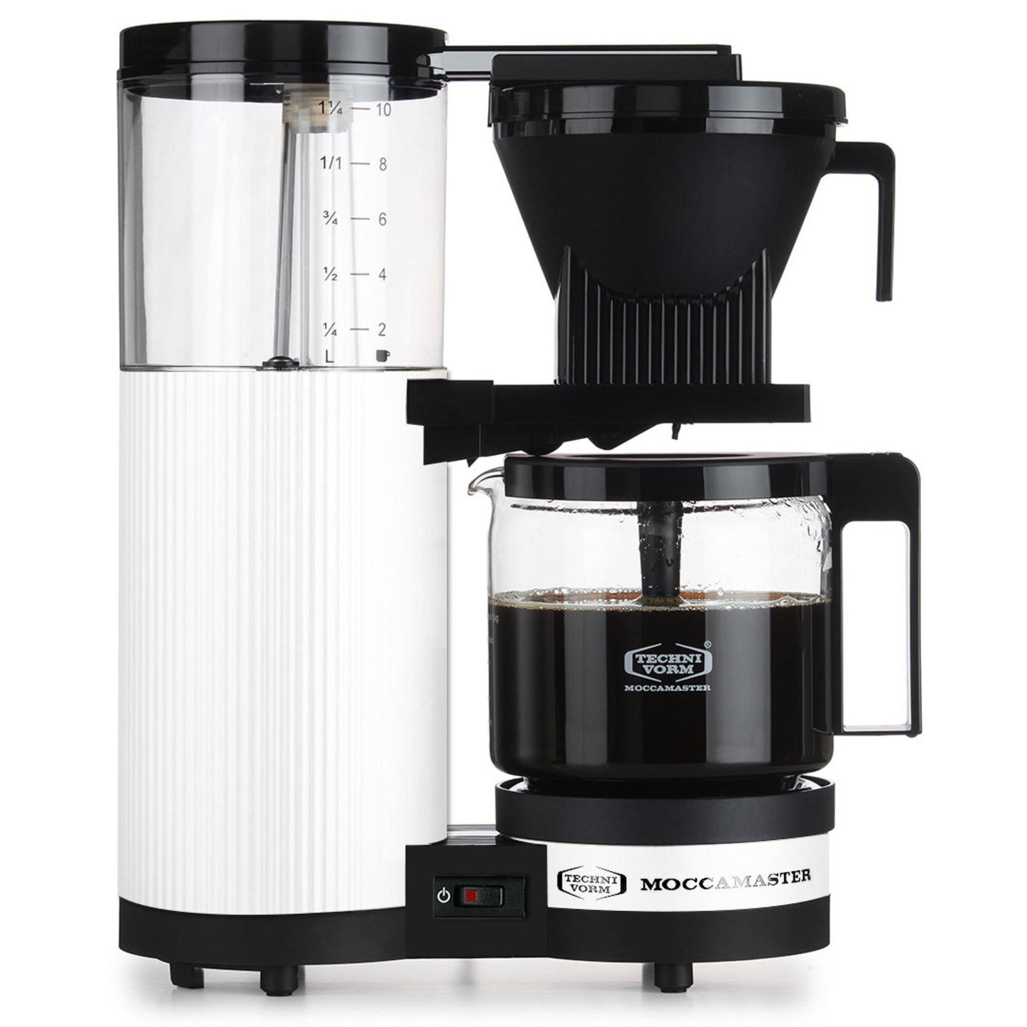 Moccamaster Kaffebryggare CDAO Vit Metallic