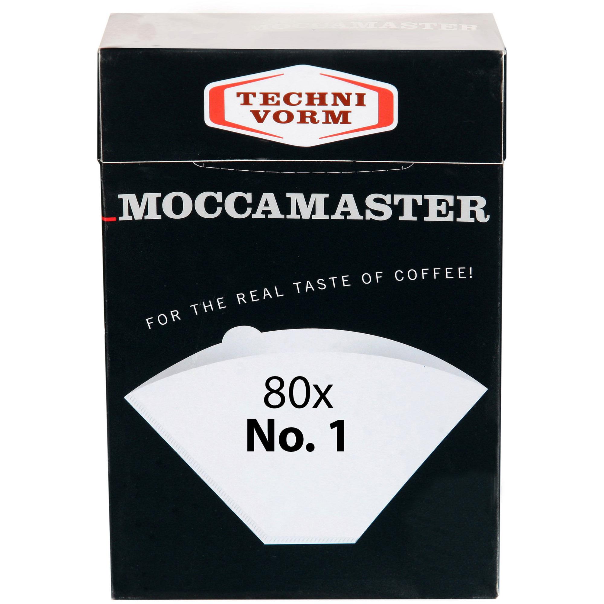 Moccamaster Kaffefilter storlek 1×1 80 st