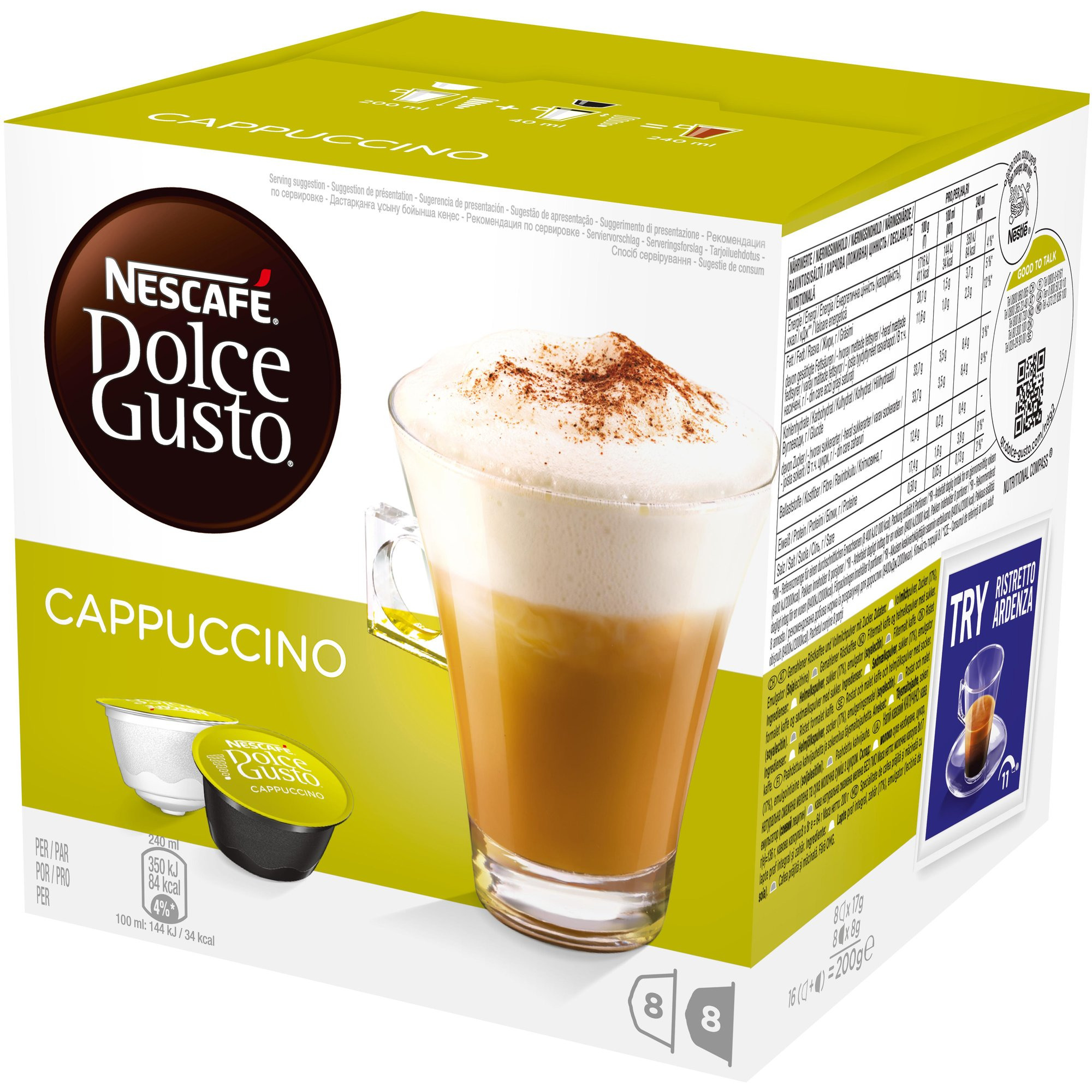 Nescafé Dolce Gusto Cappuccino Kaffekapslar