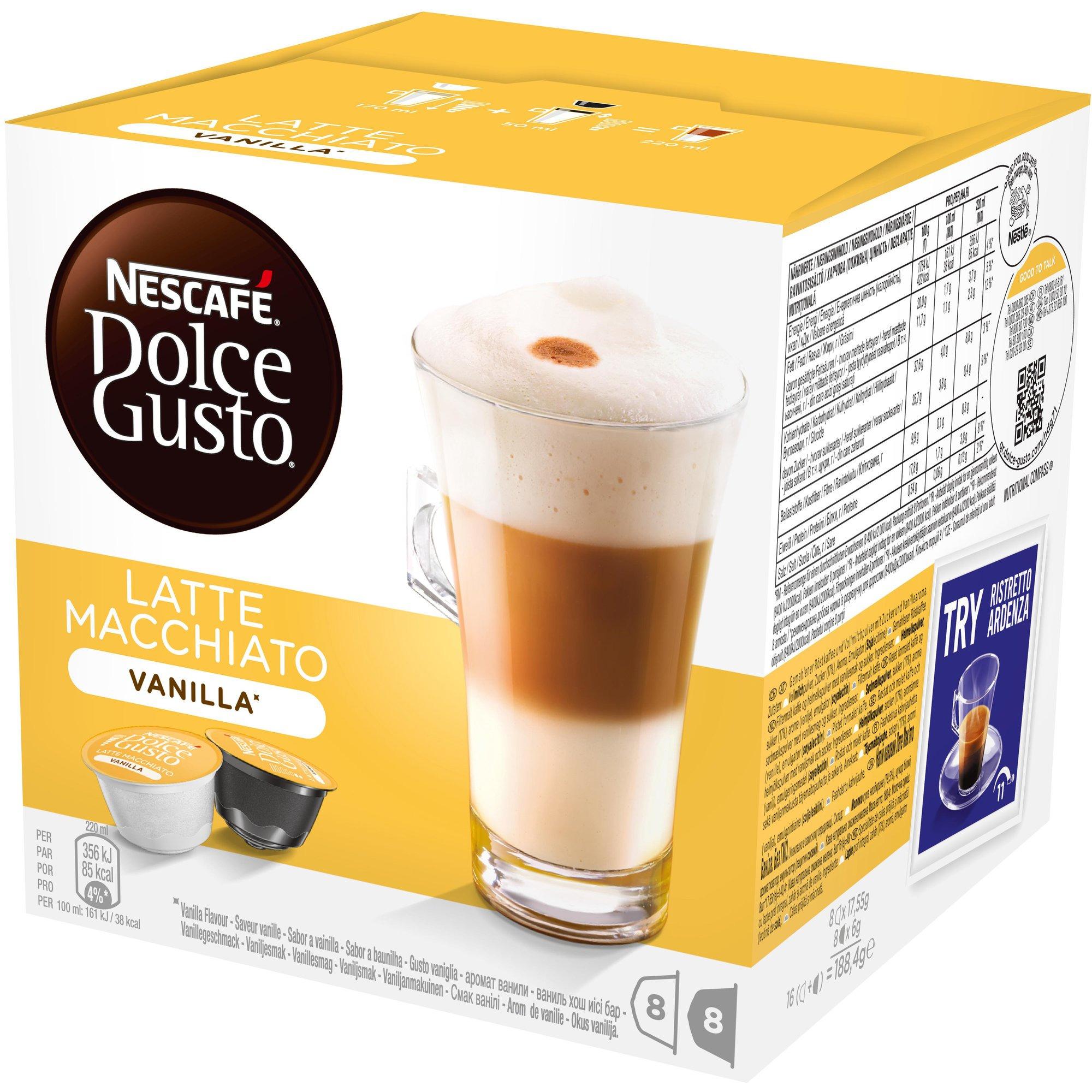Nescafé Dolce Gusto Vanilla Macchiato Kaffekapslar
