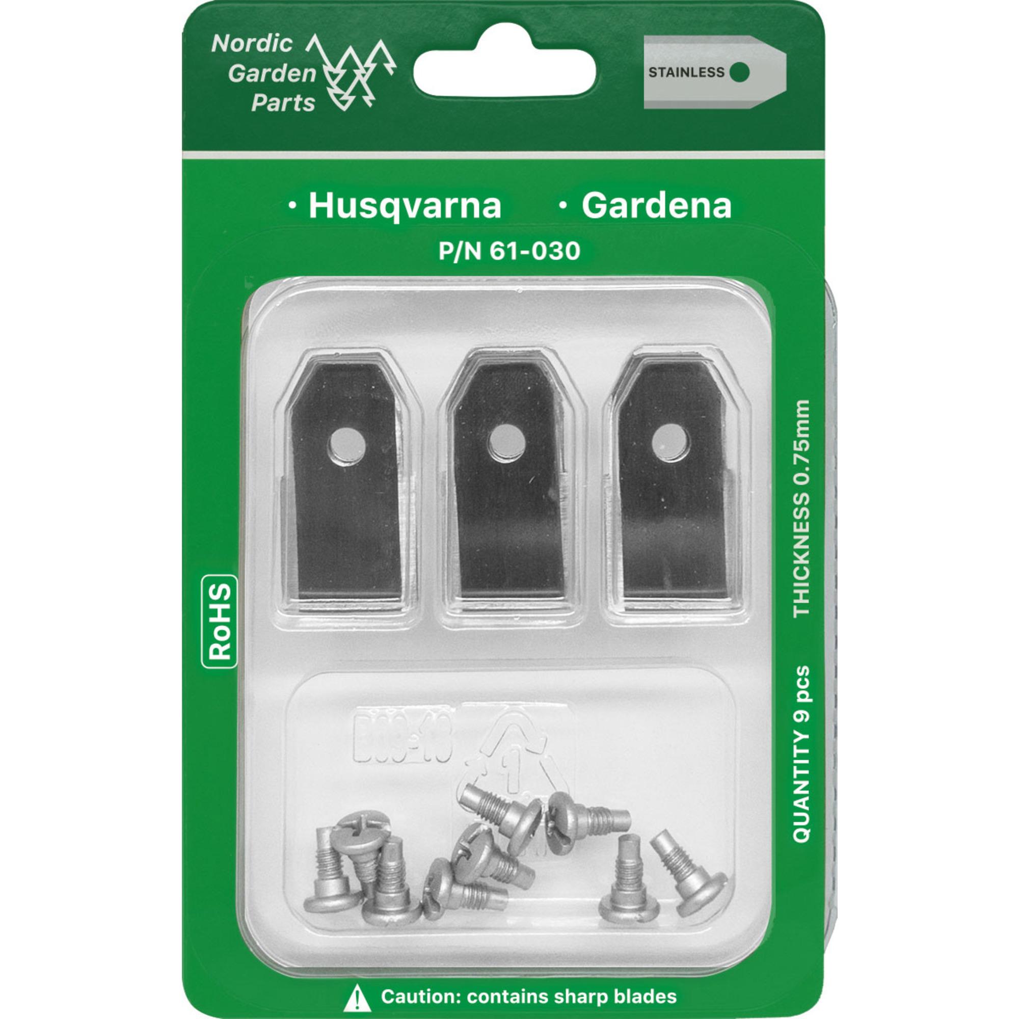Nordic Garden Parts Kniv till Husqvarna och Gardena robotgräsklippare, 9 st.