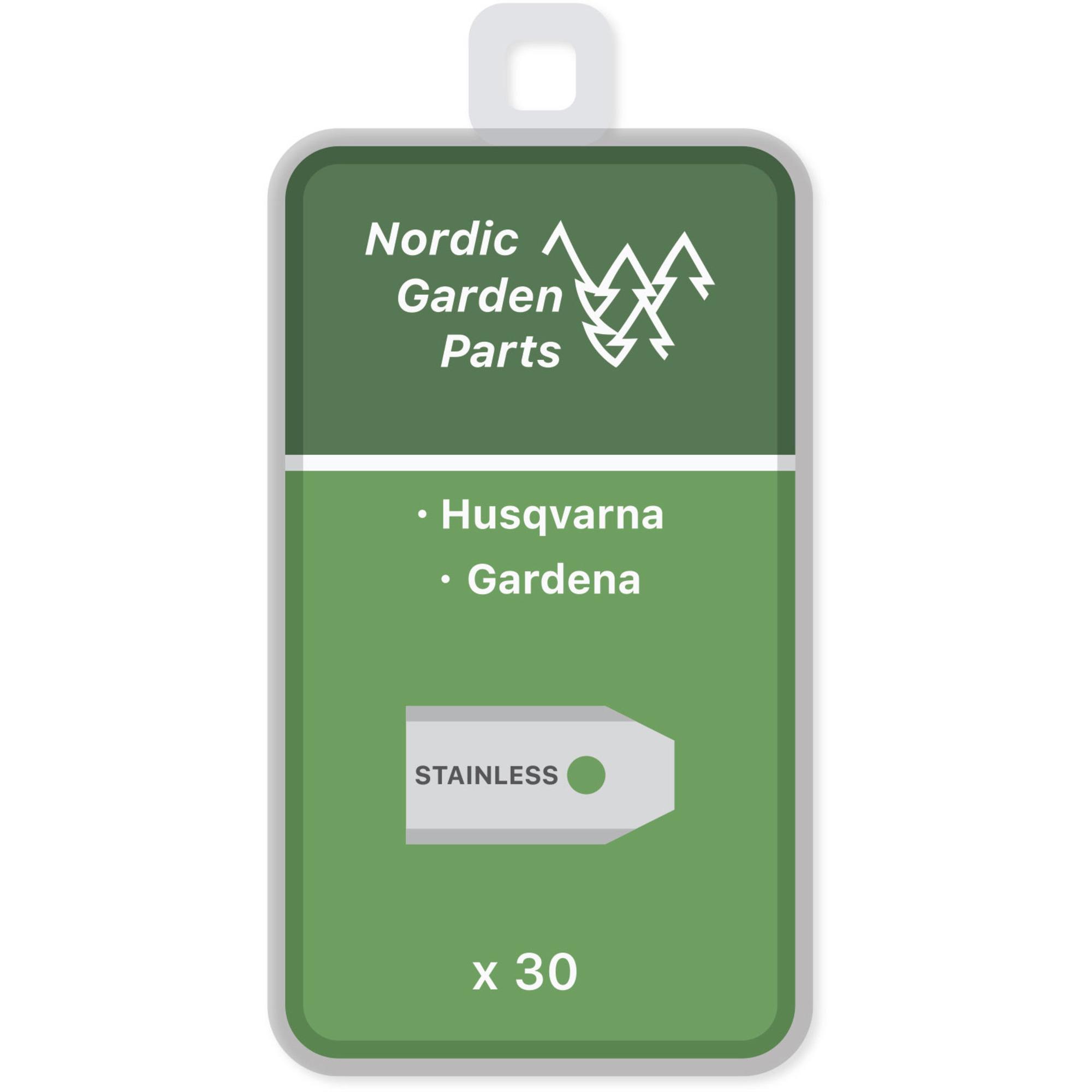Nordic Garden Parts Kniv till Husqvarna och Gardena robotgräsklippare, 30 st.