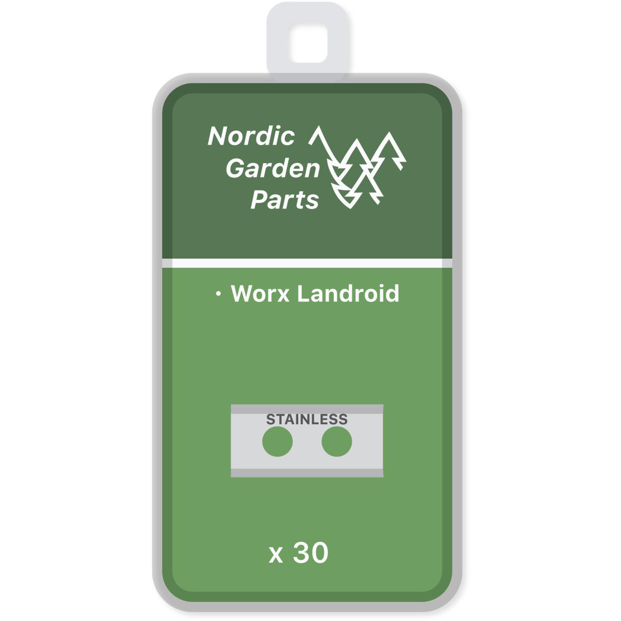 Nordic Garden Parts Knivar till Worx Landroid robotgräsklippare 30 st.