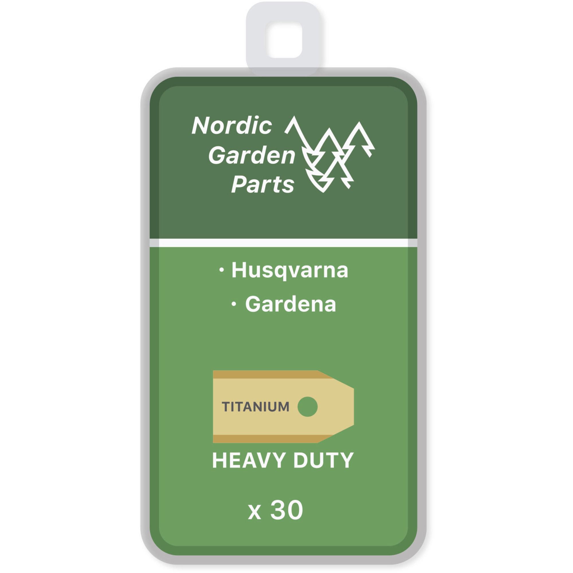 Nordic Garden Parts Titanbelagda knivar 0,75 mm 30 st.